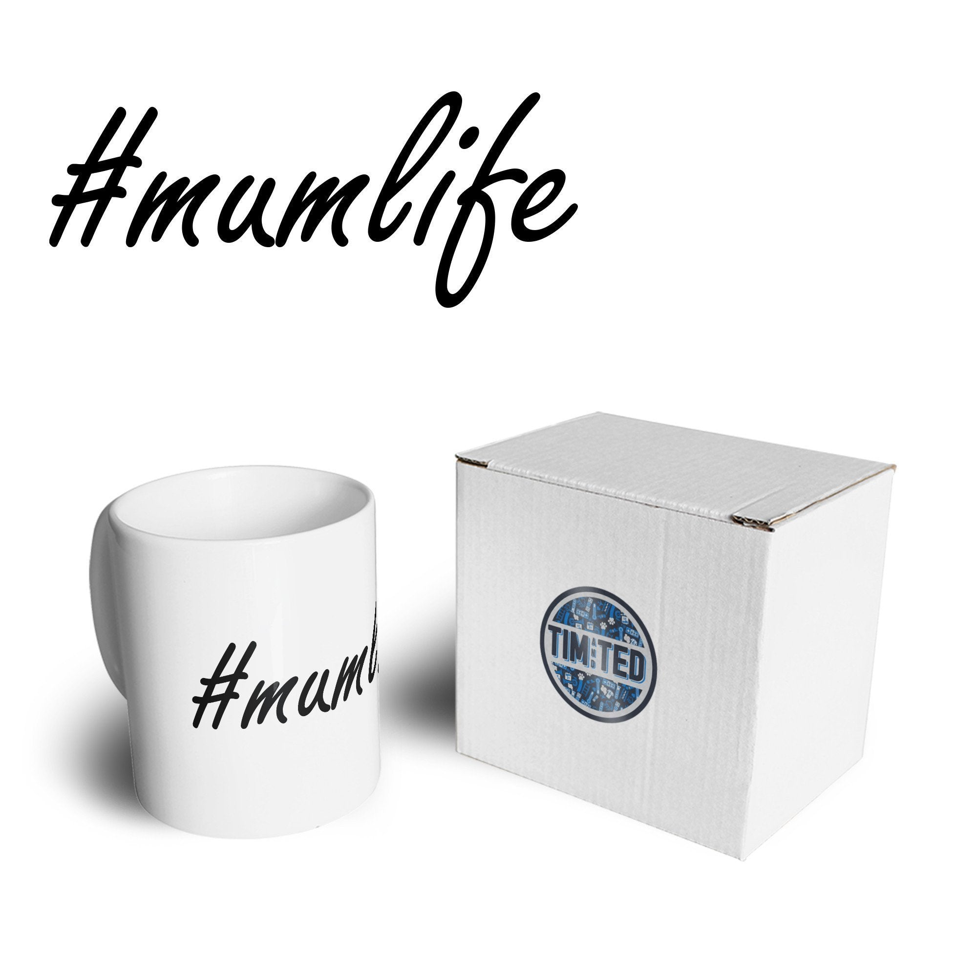 Mother's Day Mug Hashtag #mumlife Slogan Coffee Tea Cup