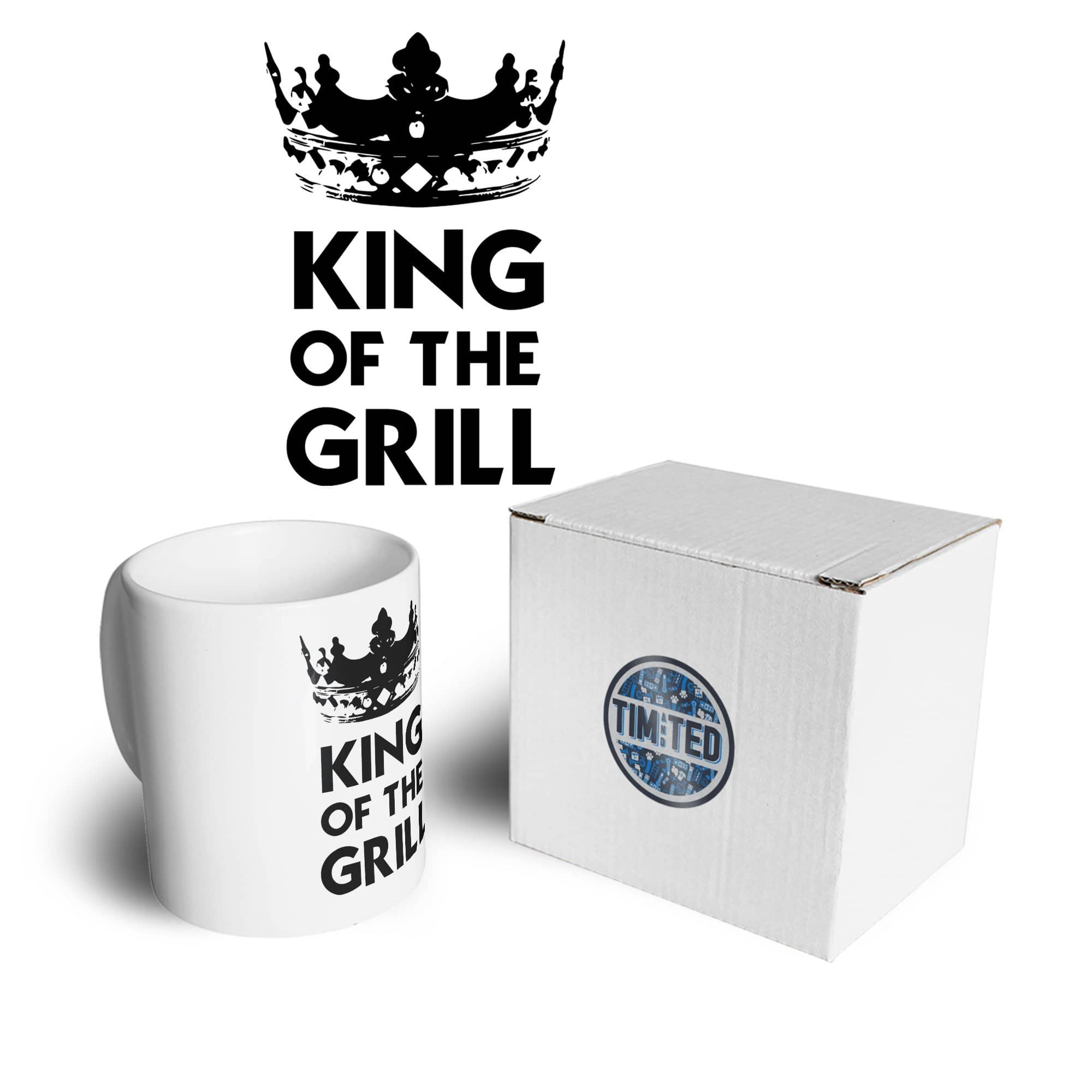 Novelty Cooking Mug King Of The Grill Slogan Coffee Tea Cup