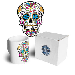 Day Of The Dead Tea Cup Mug Mexican Sugar Skull