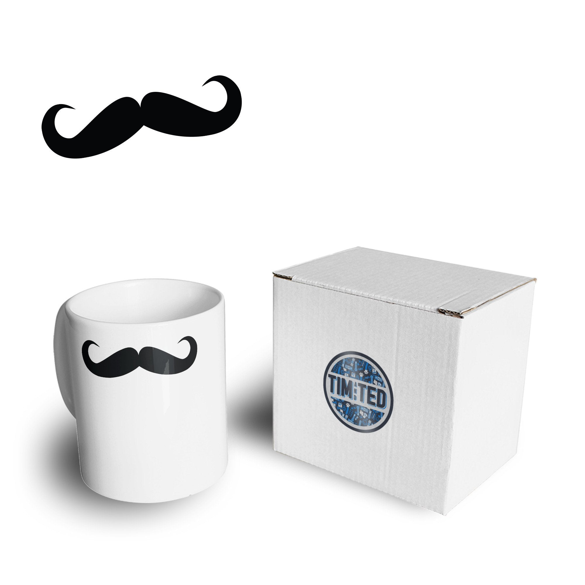 Novelty Moustache Mug Hipster Like A Sir Drinking Coffee Tea Cup