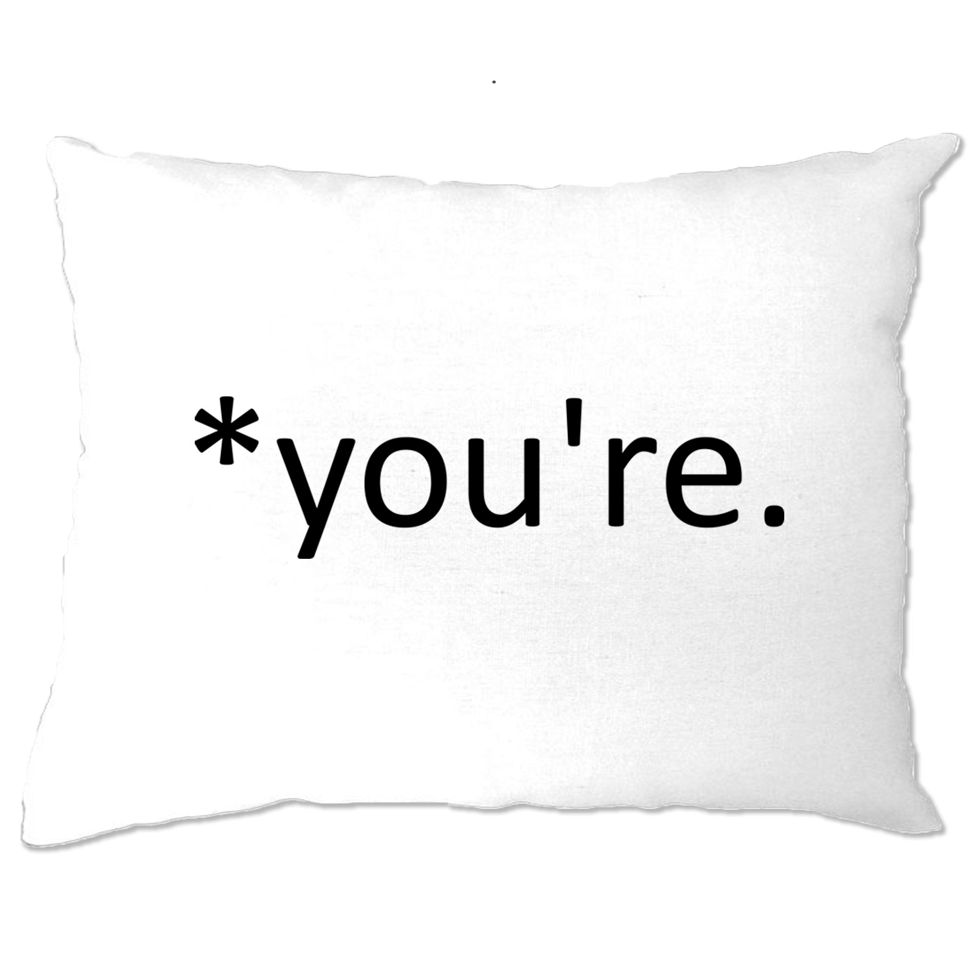 Correction of the Proper 'You're' Funny Pillow Case Joke