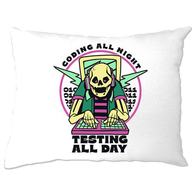 Skeleton Programmer Pillow Case