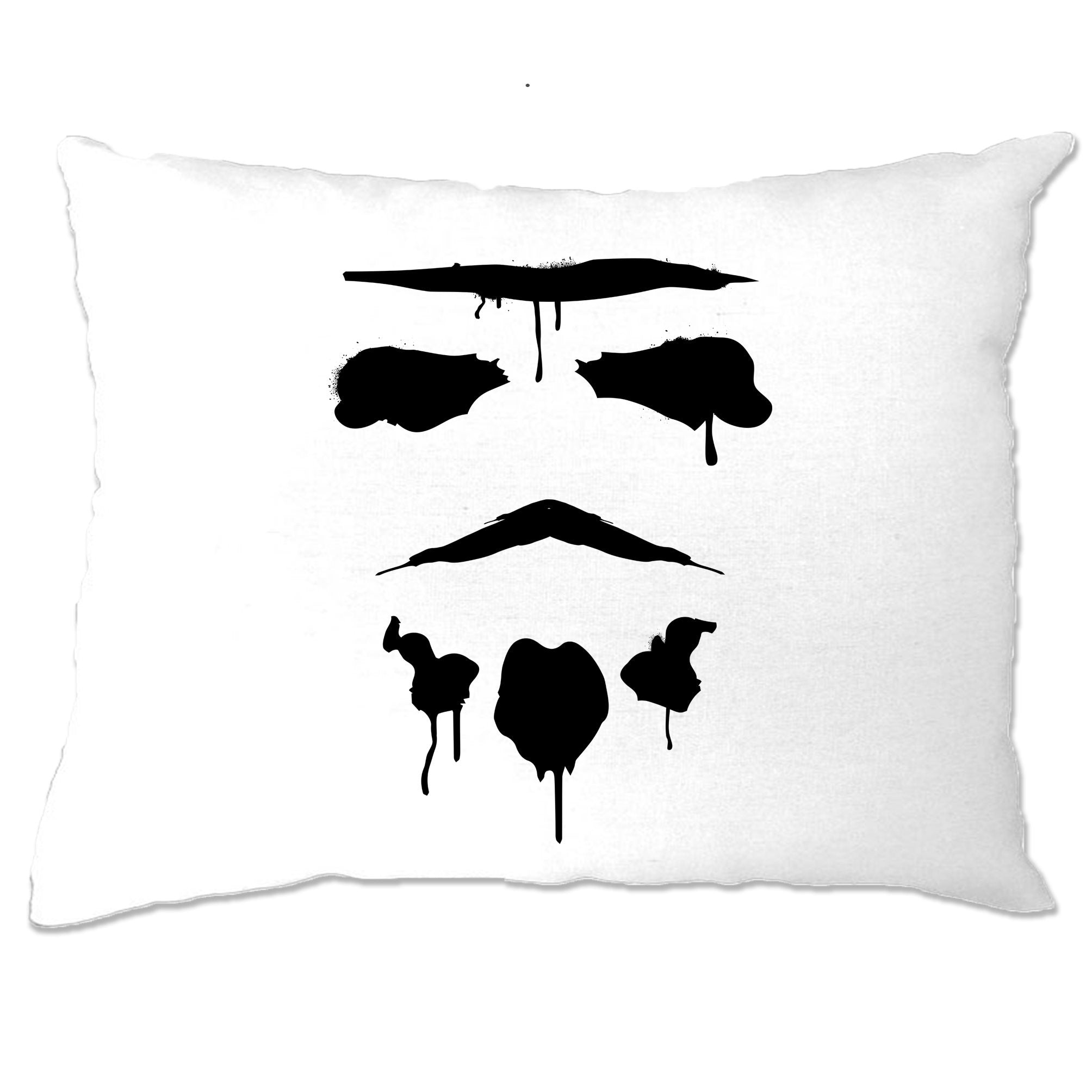 Graffiti Trooper Rorschach Mask Pillow Case