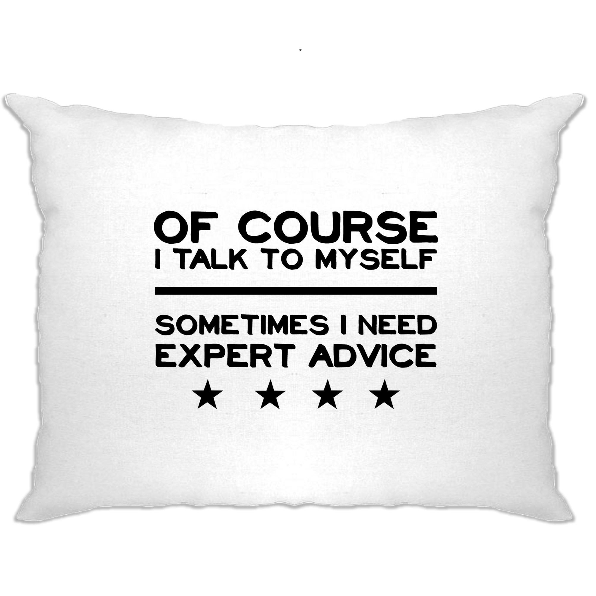 Funny Pillow Case Of Course I Talk To Myself