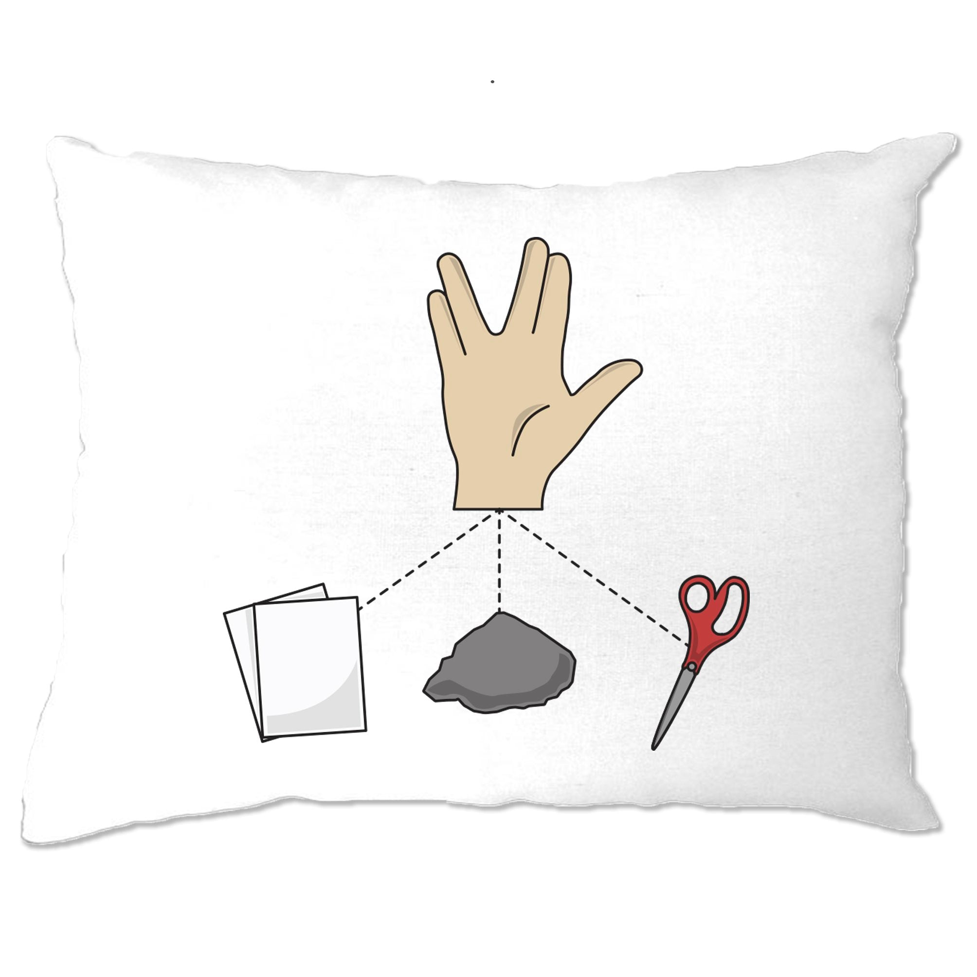 Nerdy Pillow Case Rock, Paper, Scissors and Spock Game