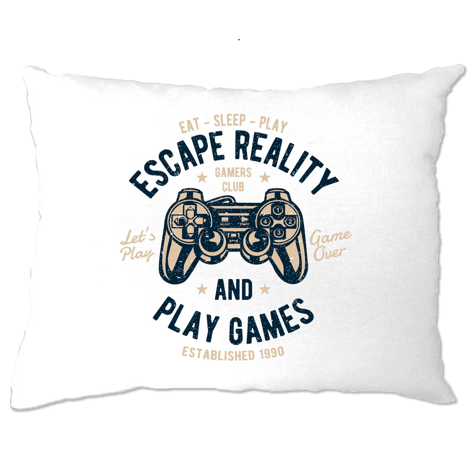 Retro Gamer Art Pillow Case Escape Reality And Play Games