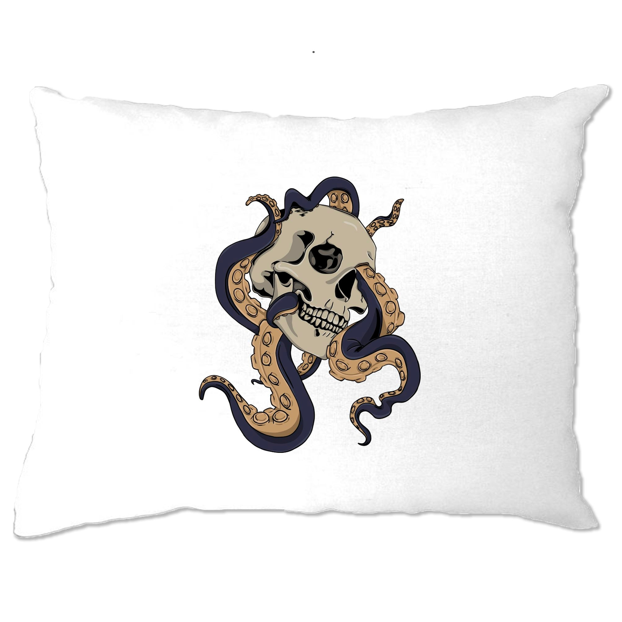 Tattoo Street Art Pillow Case Skull And Octopus Graphic