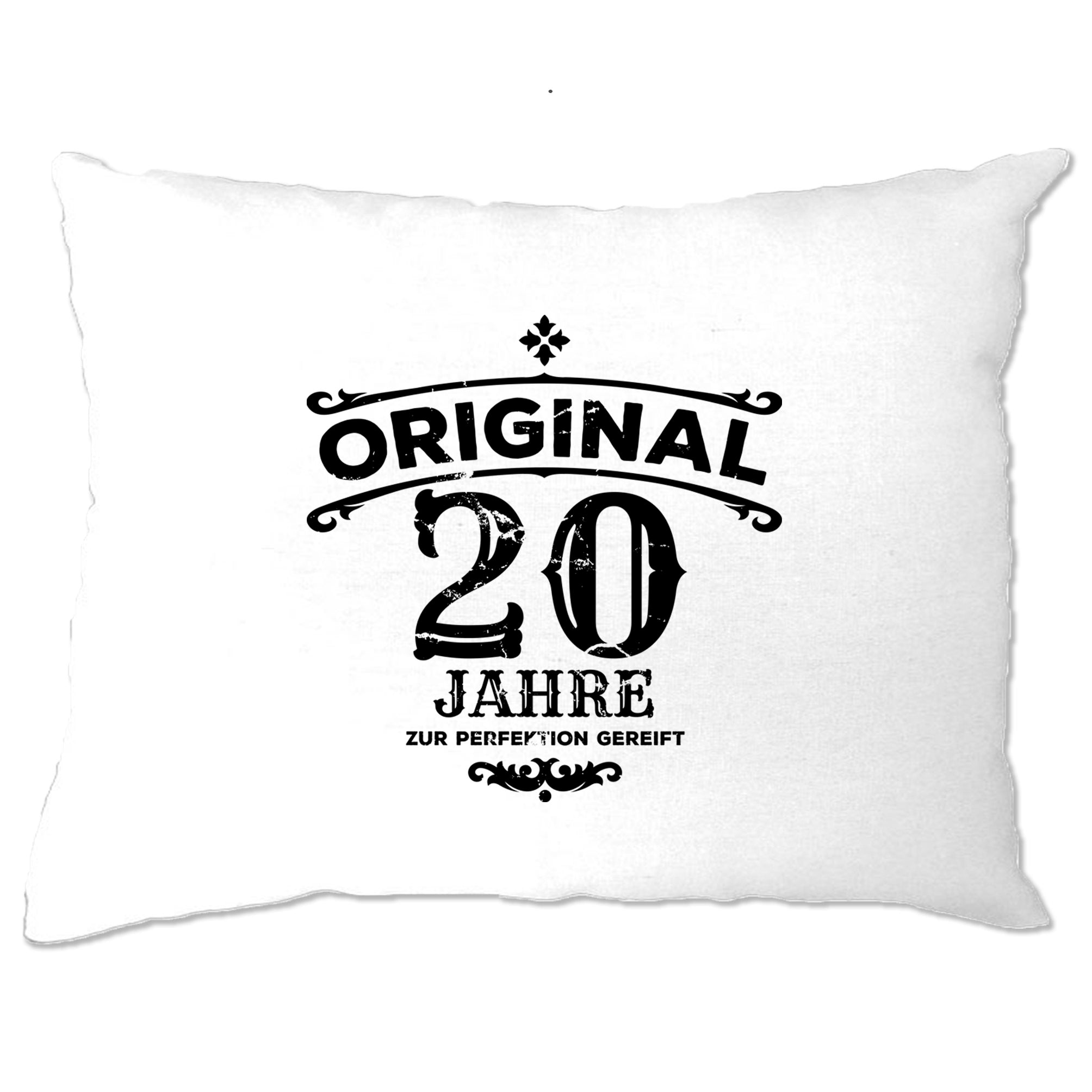 20th Birthday Pillow Case Original Aged 20 Twenty Years