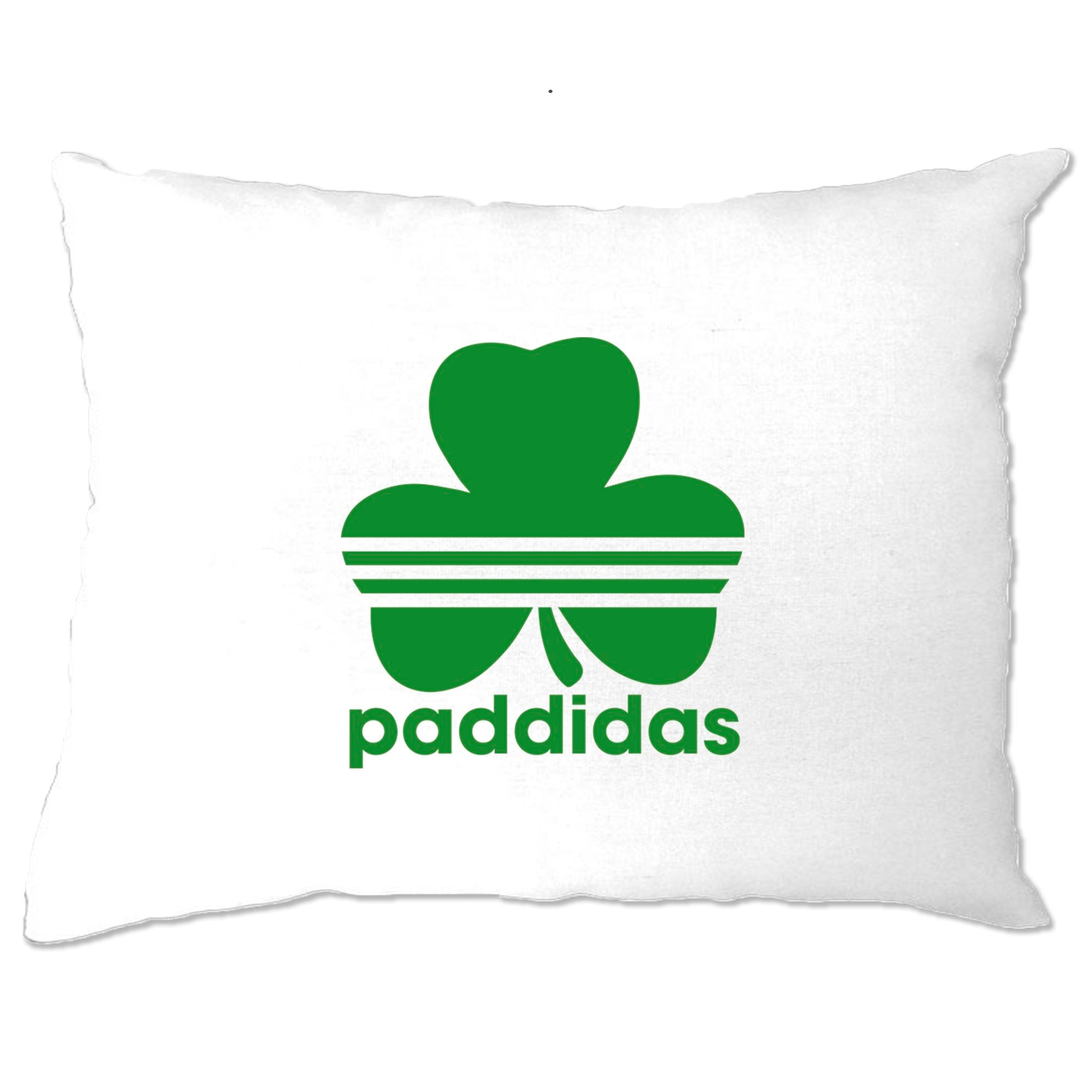 St Patricks Day Pillow Case Paddidas Paddy Irish Sport