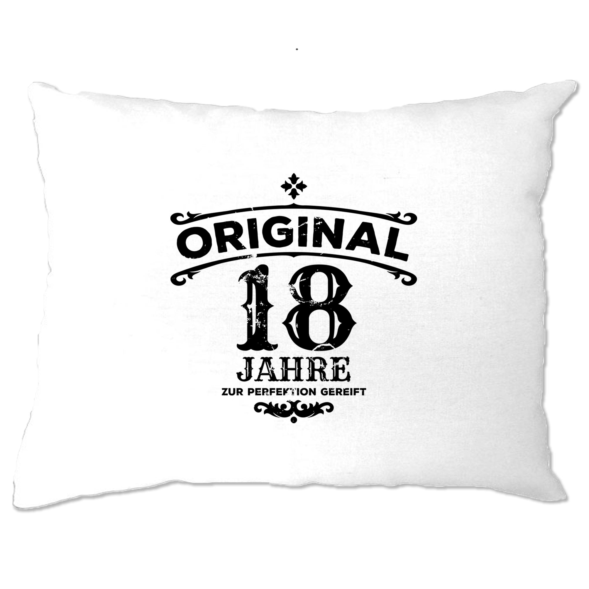18th Birthday Pillow Case Original Aged 18 Eighteen Years