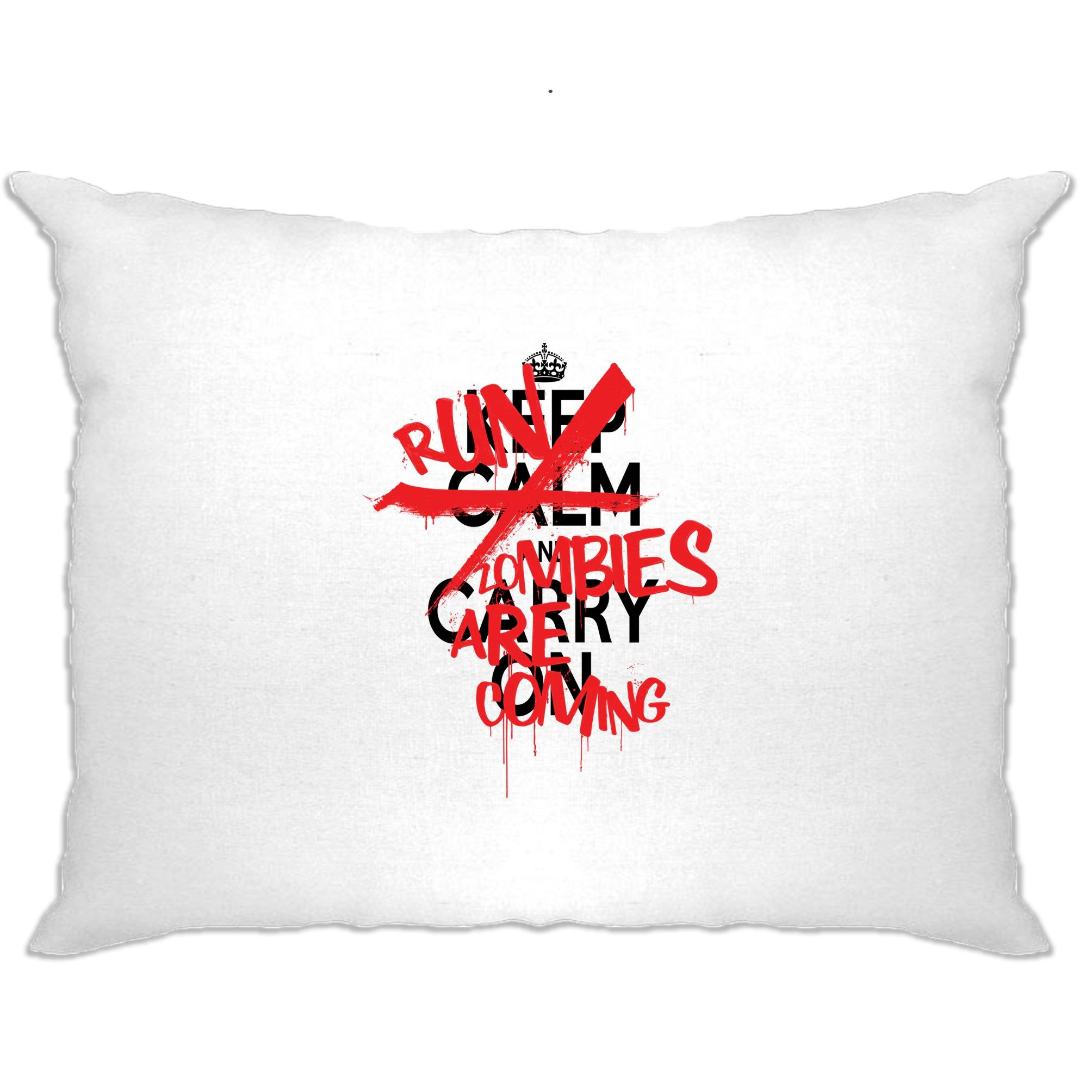 Keep Calm & Carry On | Run, Zombies Are Coming Pillow Case