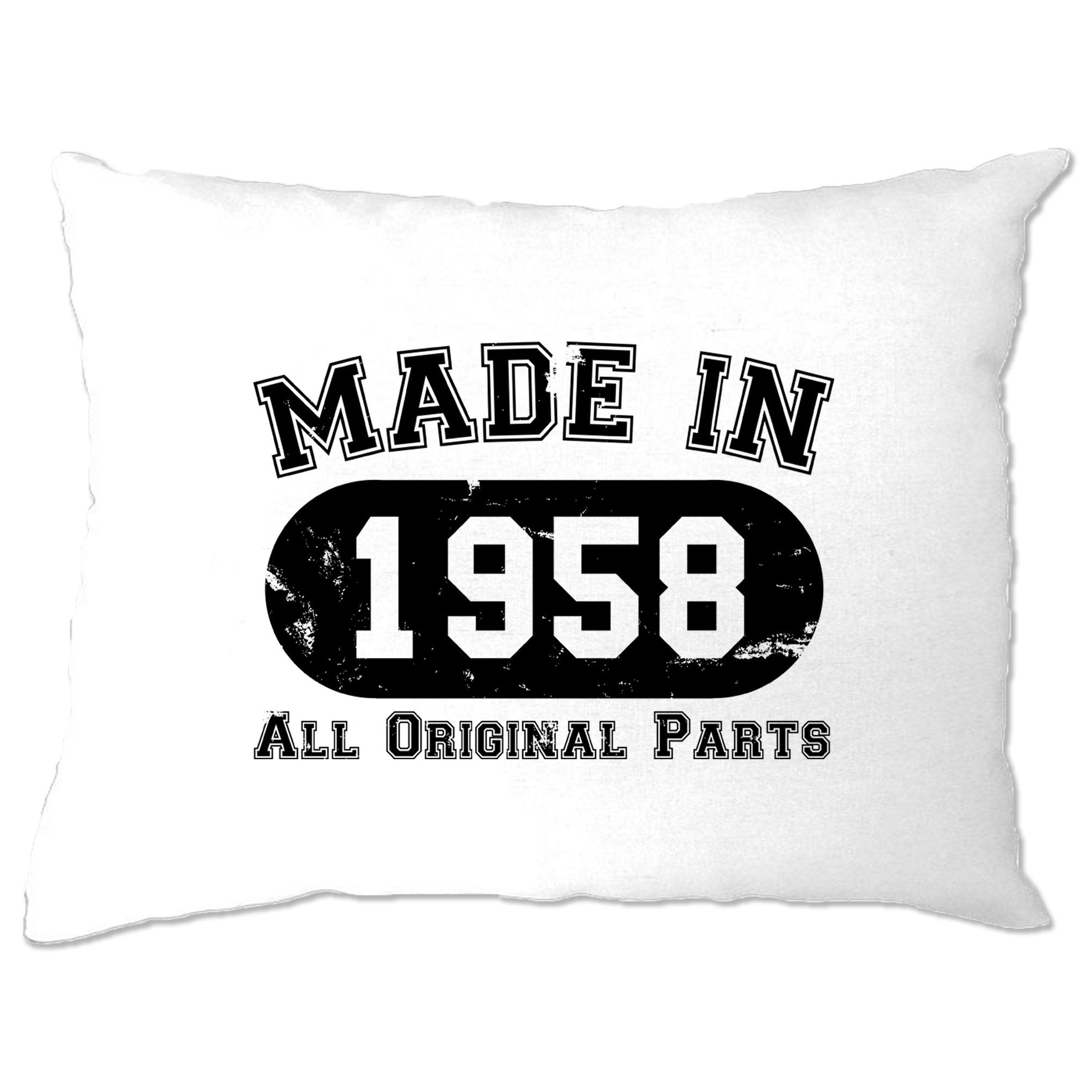 Made in 1958 All Original Parts Pillow Case [Distressed]