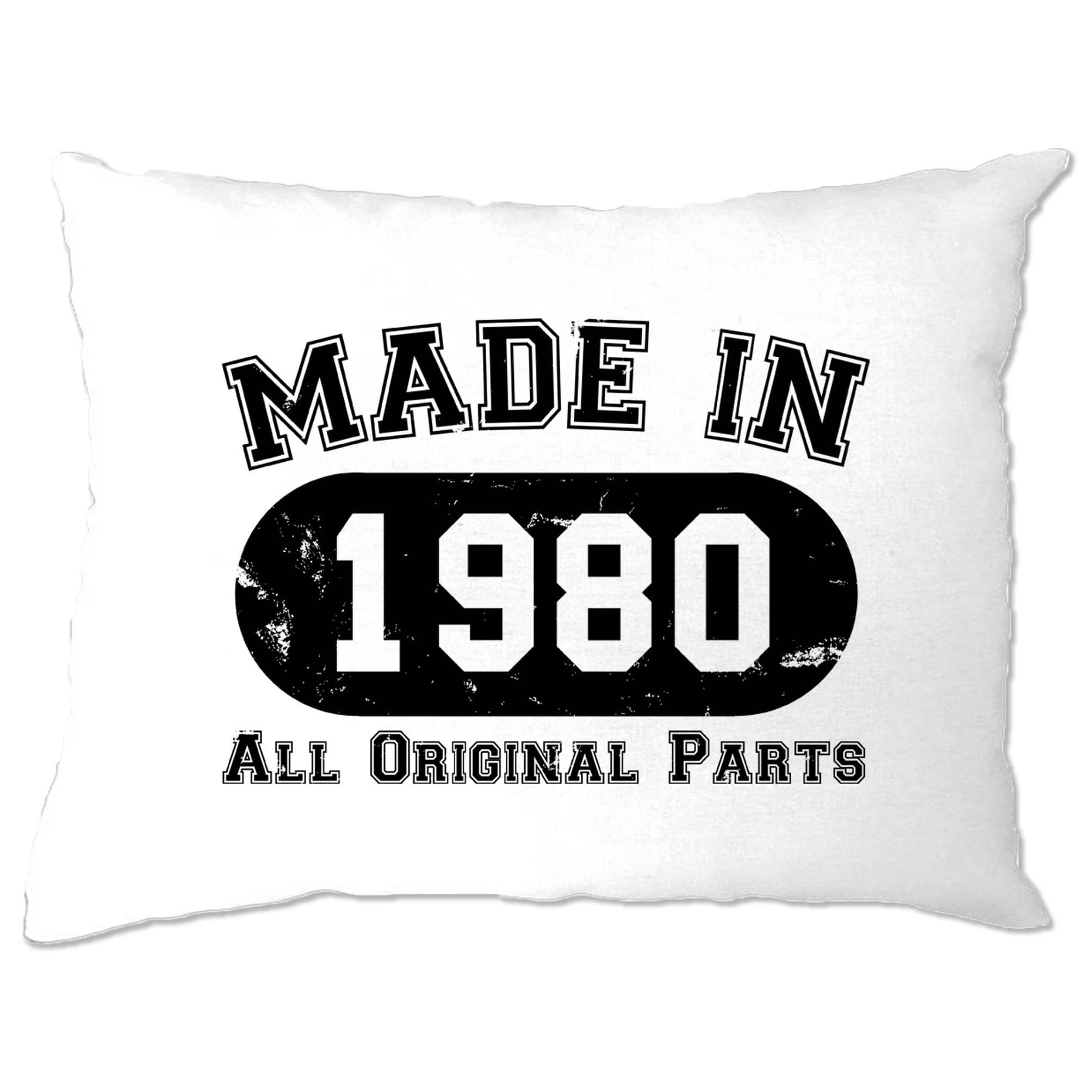 Made in 1980 All Original Parts Pillow Case [Distressed]