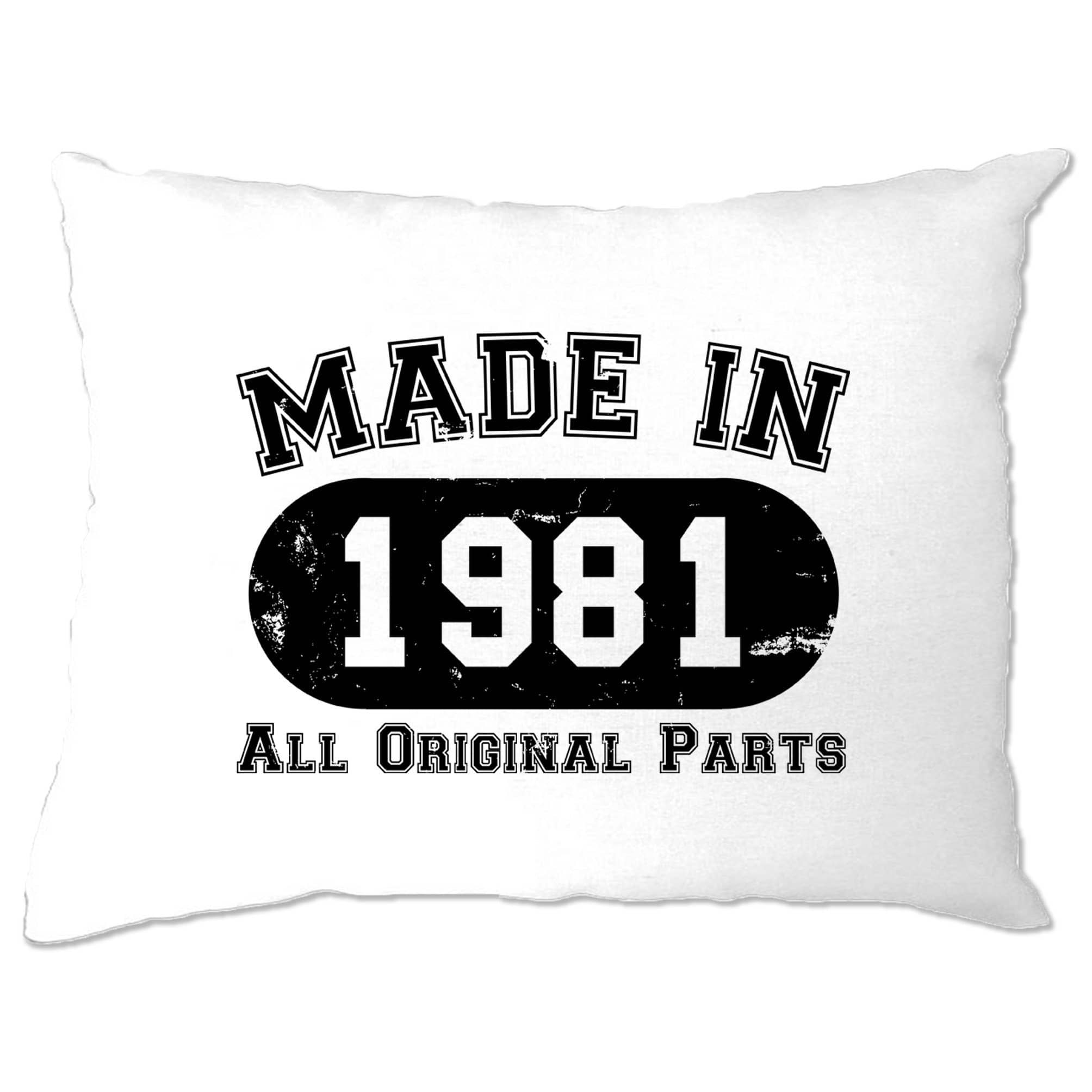 Made in 1981 All Original Parts Pillow Case [Distressed]