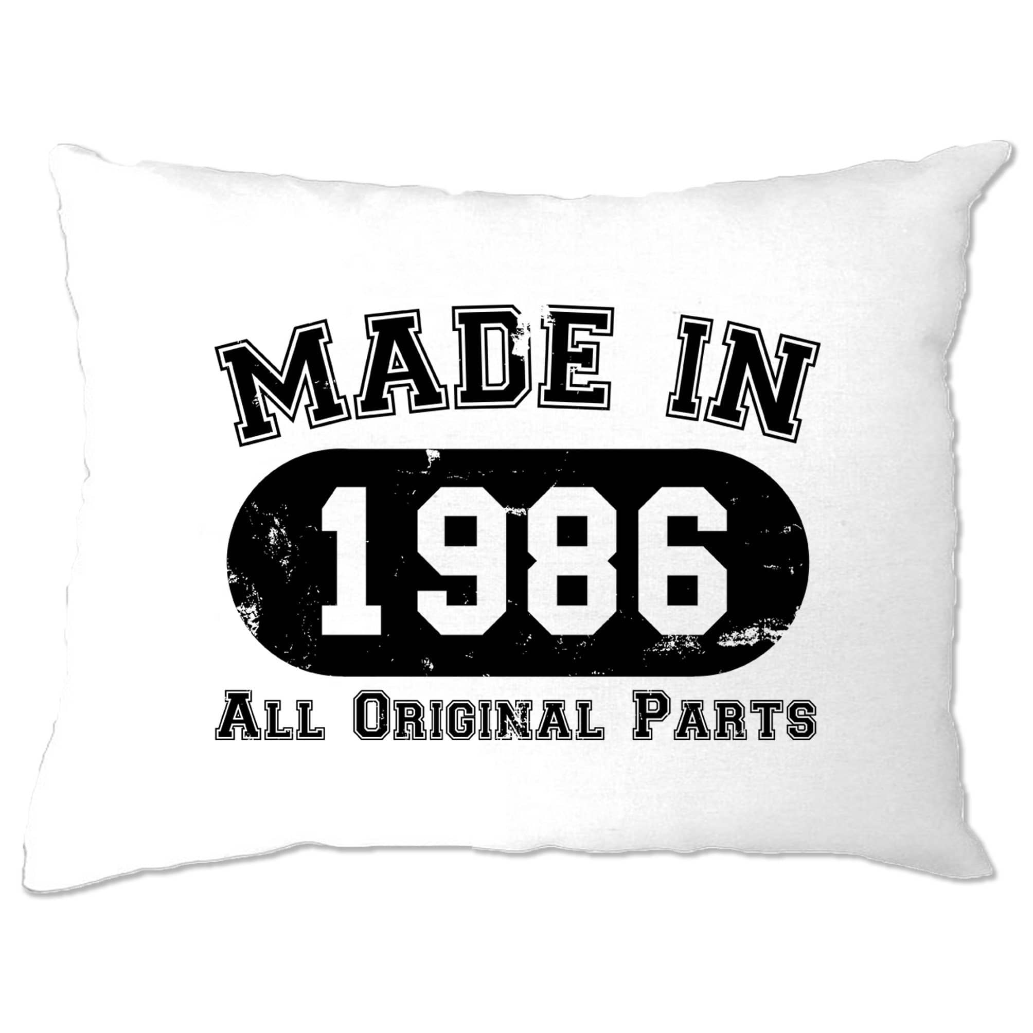 Made in 1986 All Original Parts Pillow Case [Distressed]