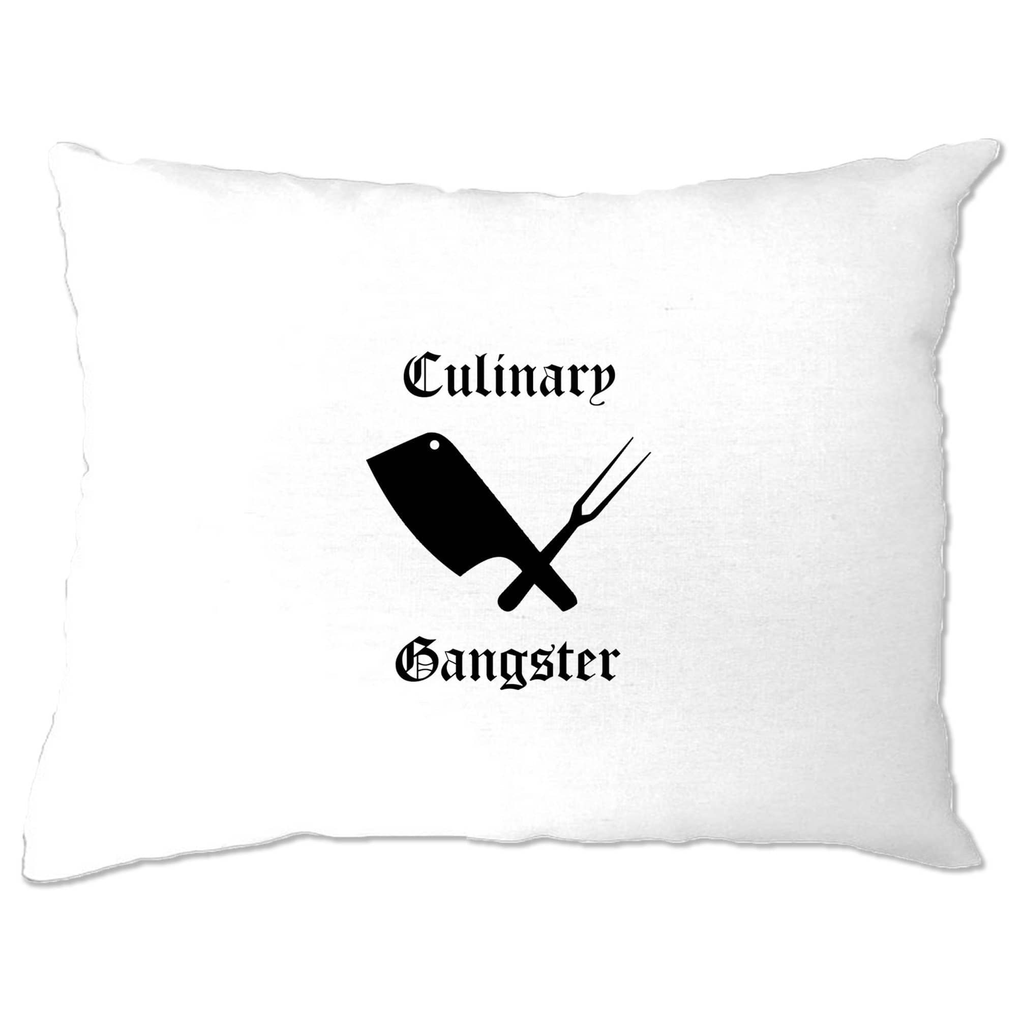 Cooking Pillow Case Culinary Gangster Cuisine Logo