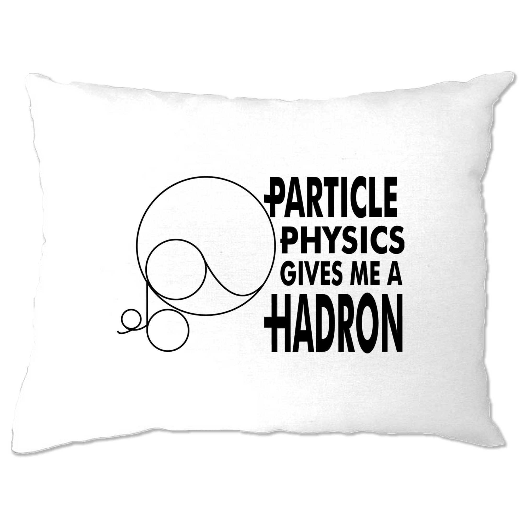 Rude Nerdy Pillow Case Particle Physics Gives Me A Hadron