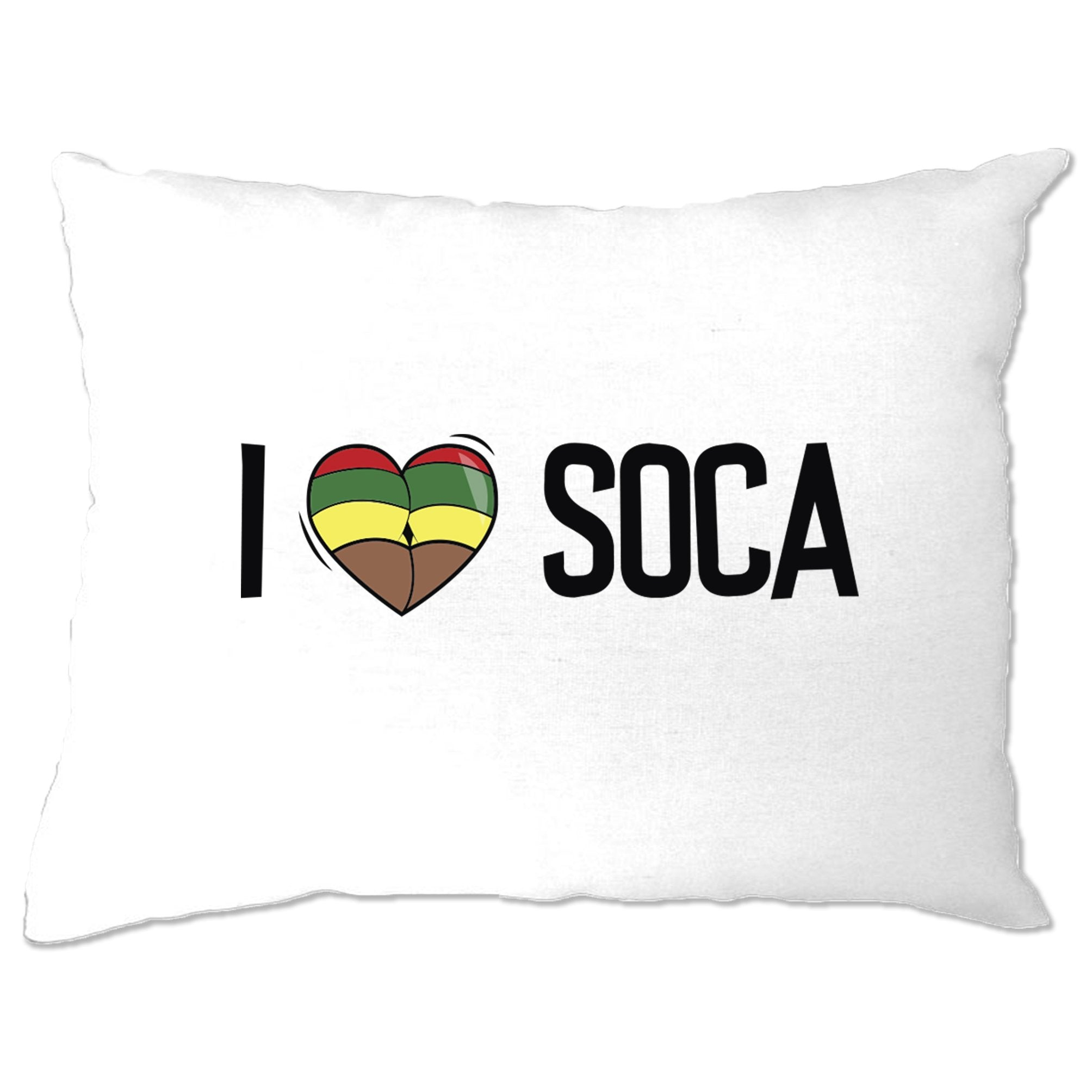 Music Pillow Case I Love Soca Reggae Jamaica Dub Carnival