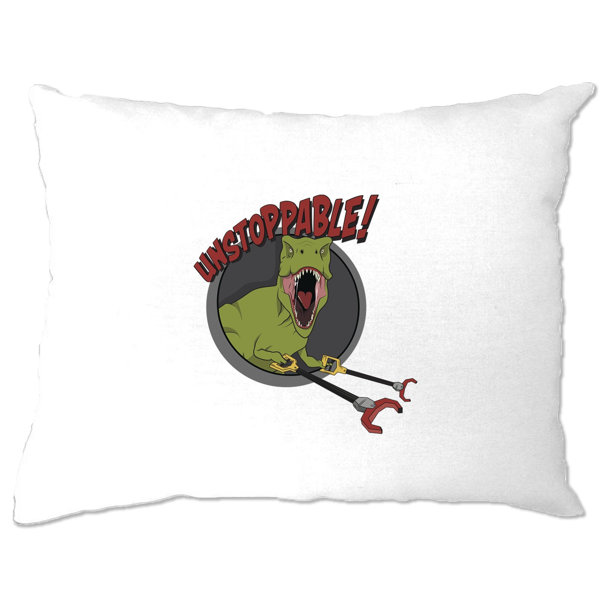 Novelty Pillow Case Unstoppable T-Rex With Grabber Hands