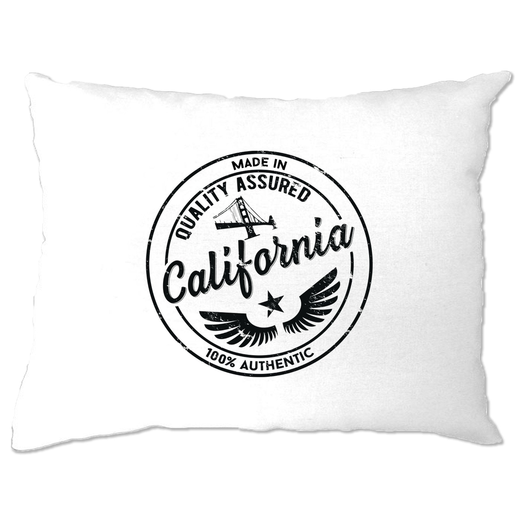 Hometown Pride Pillow Case Made in California Stamp