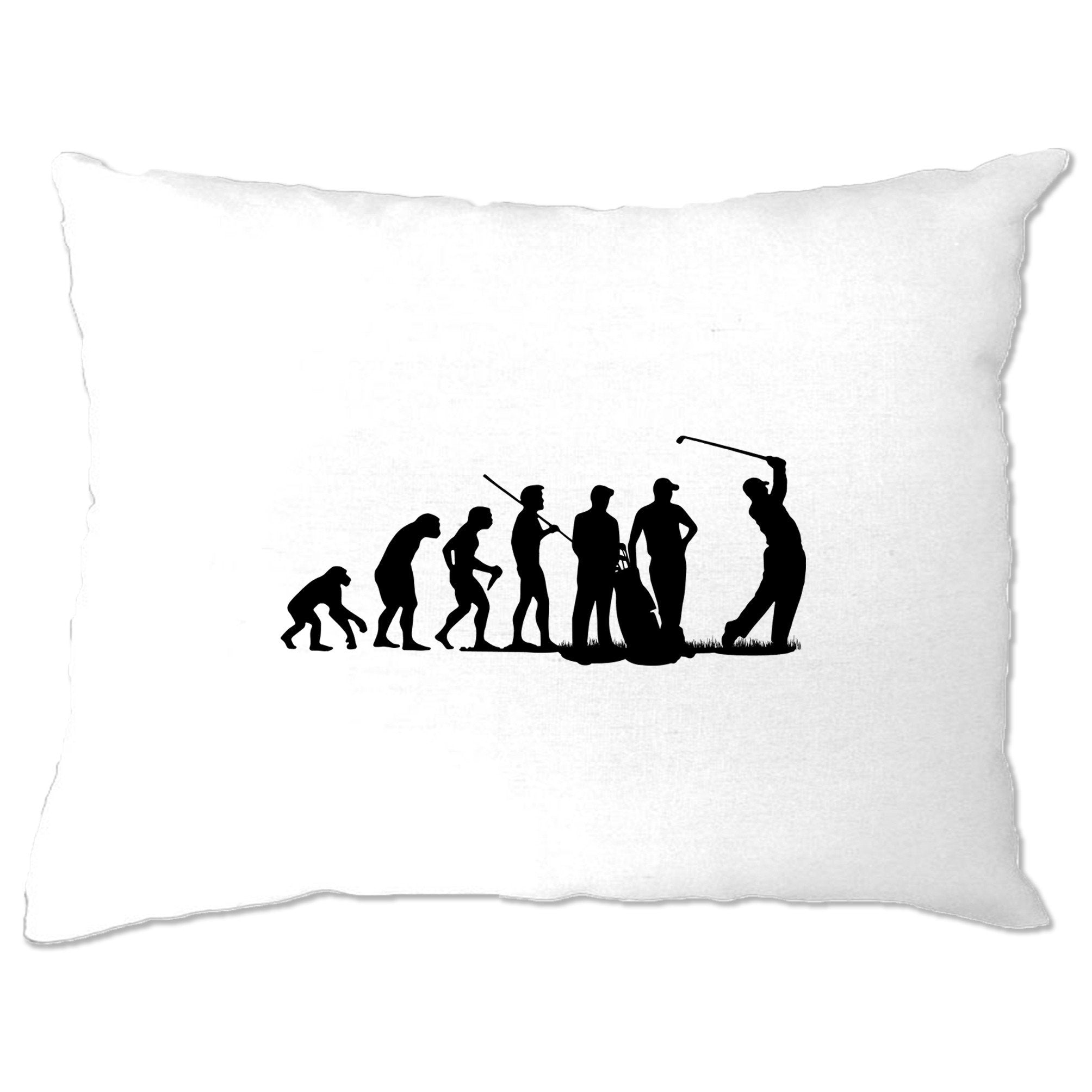 Sports Pillow Case The Evolution Of A Golfer