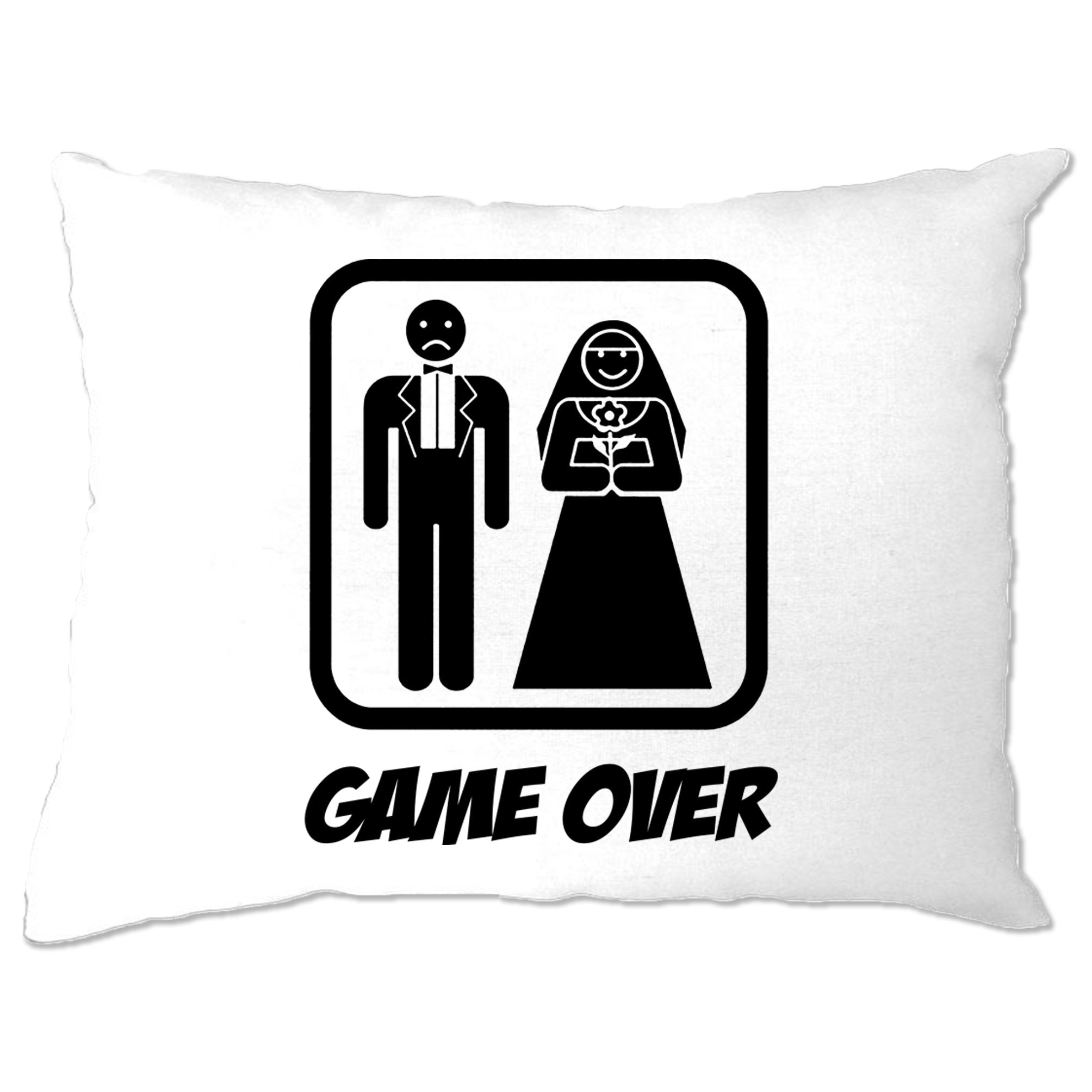 Game Over Novelty Pillow Case Wedding Stag Do Hen Night