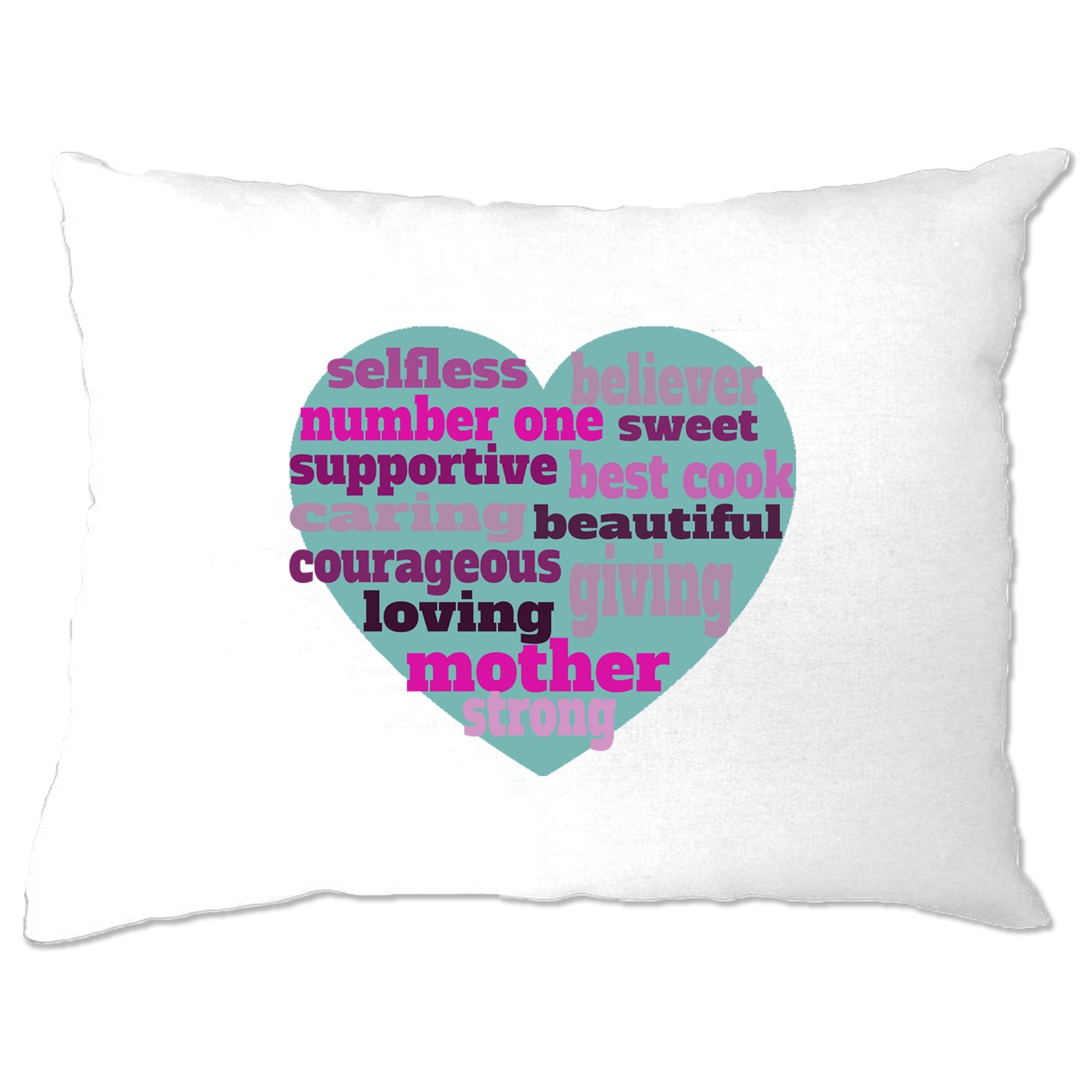Mother's Day Pillow Case Heart Of Mum Mom