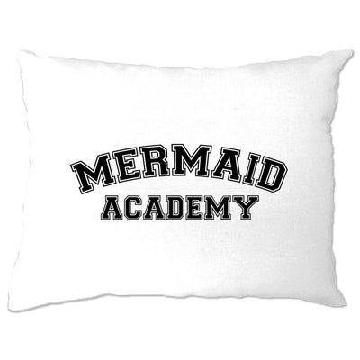 Novelty Mythical Pillow Case Mermaid Academy Slogan