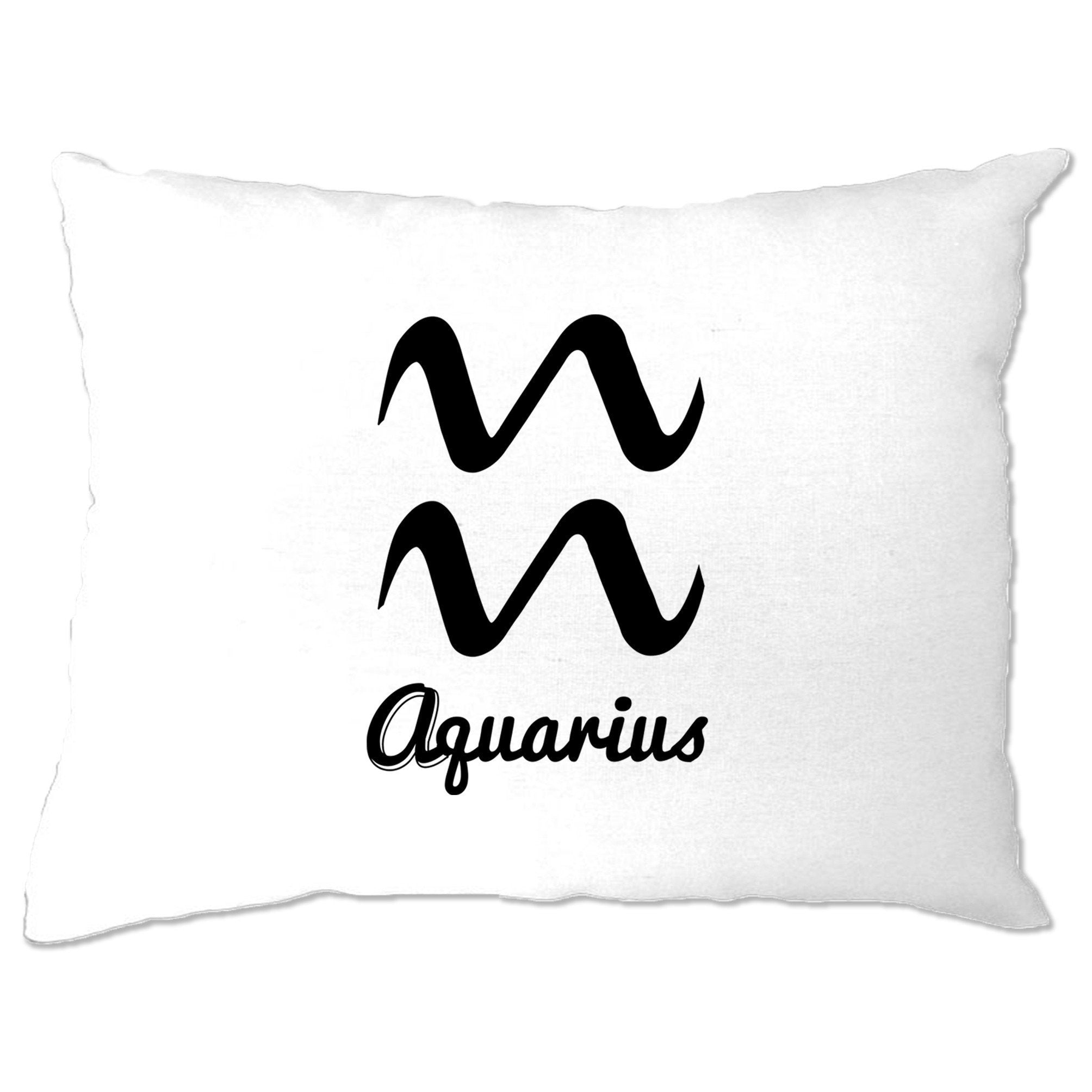 Horoscope Pillow Case Aquarius Zodiac Star Sign Birthday