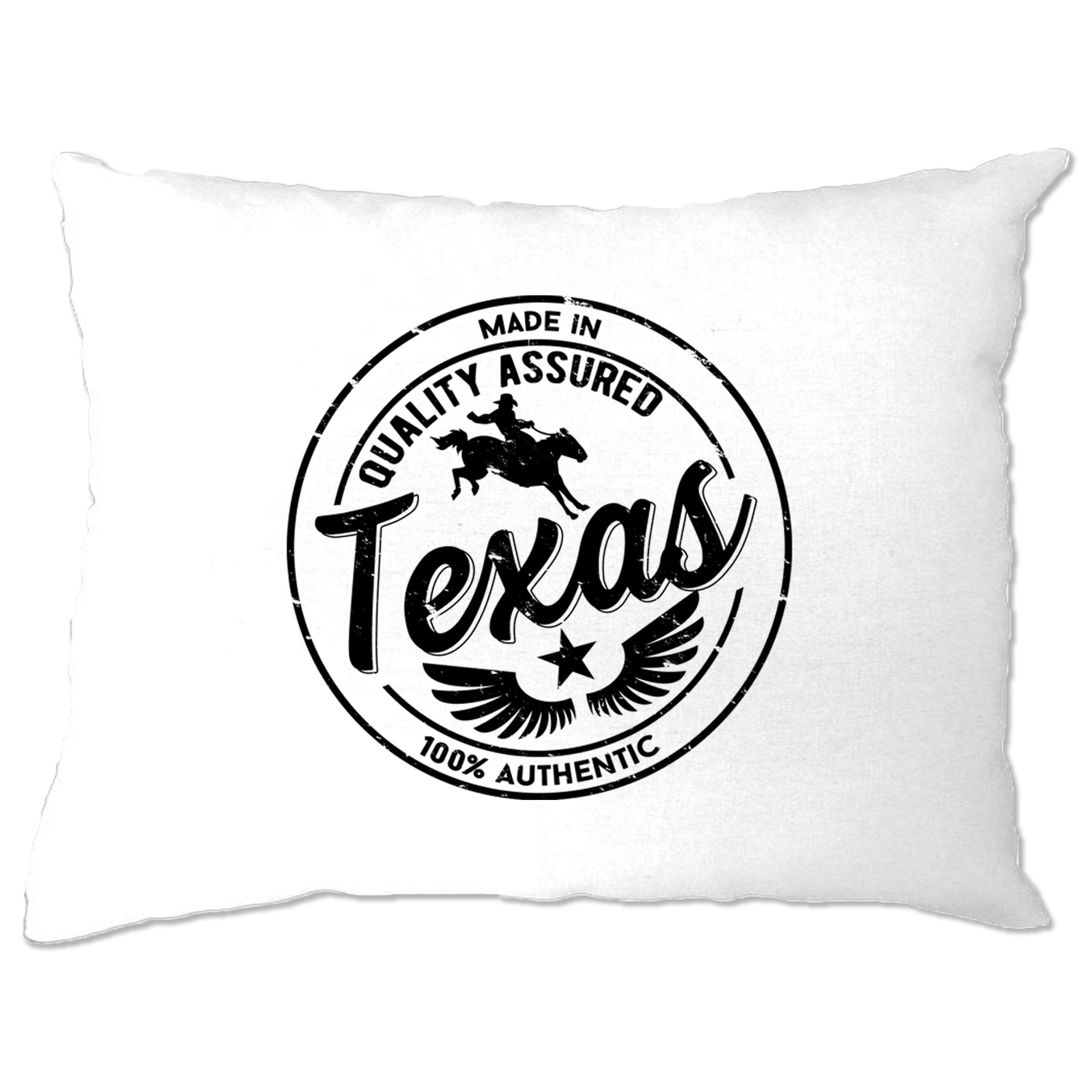 Hometown Pride Pillow Case Made in Texas Stamp