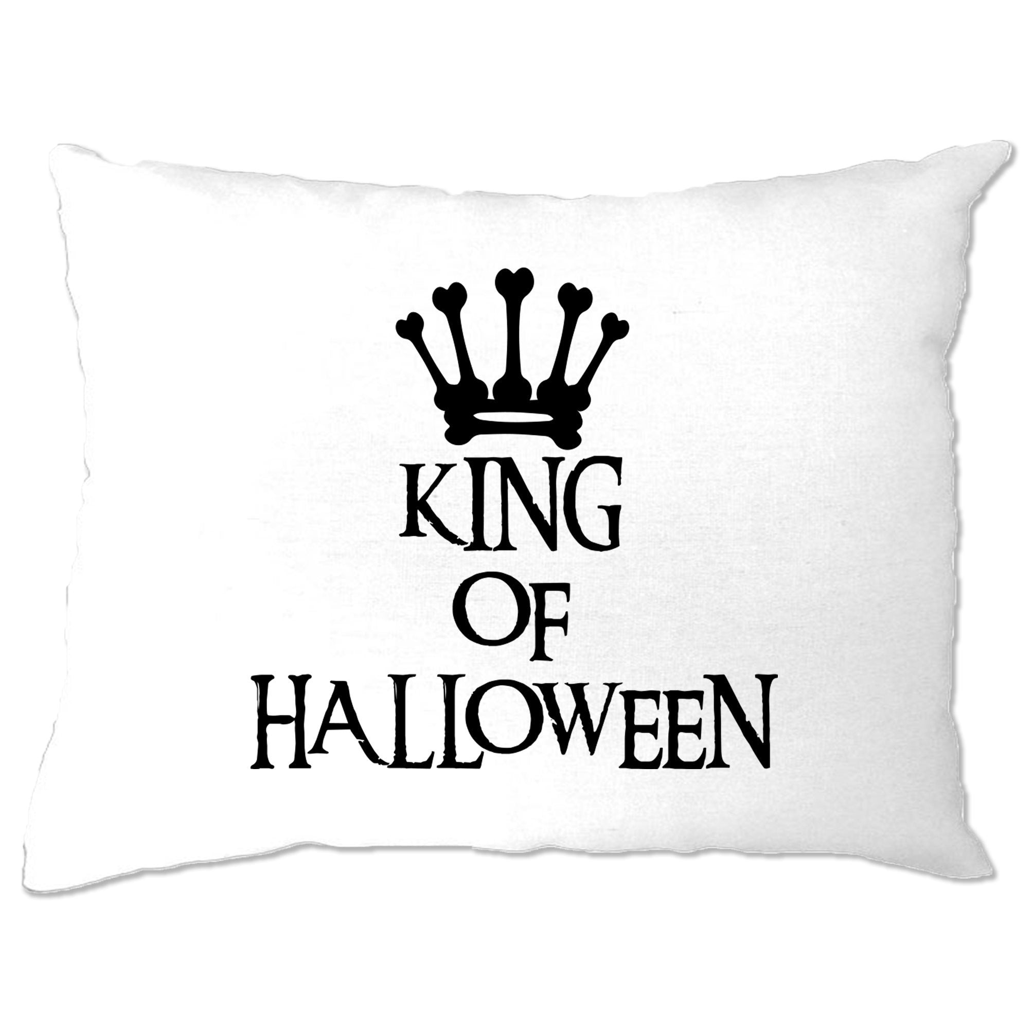 Novelty Spooky Pillow Case King Of Halloween Crown