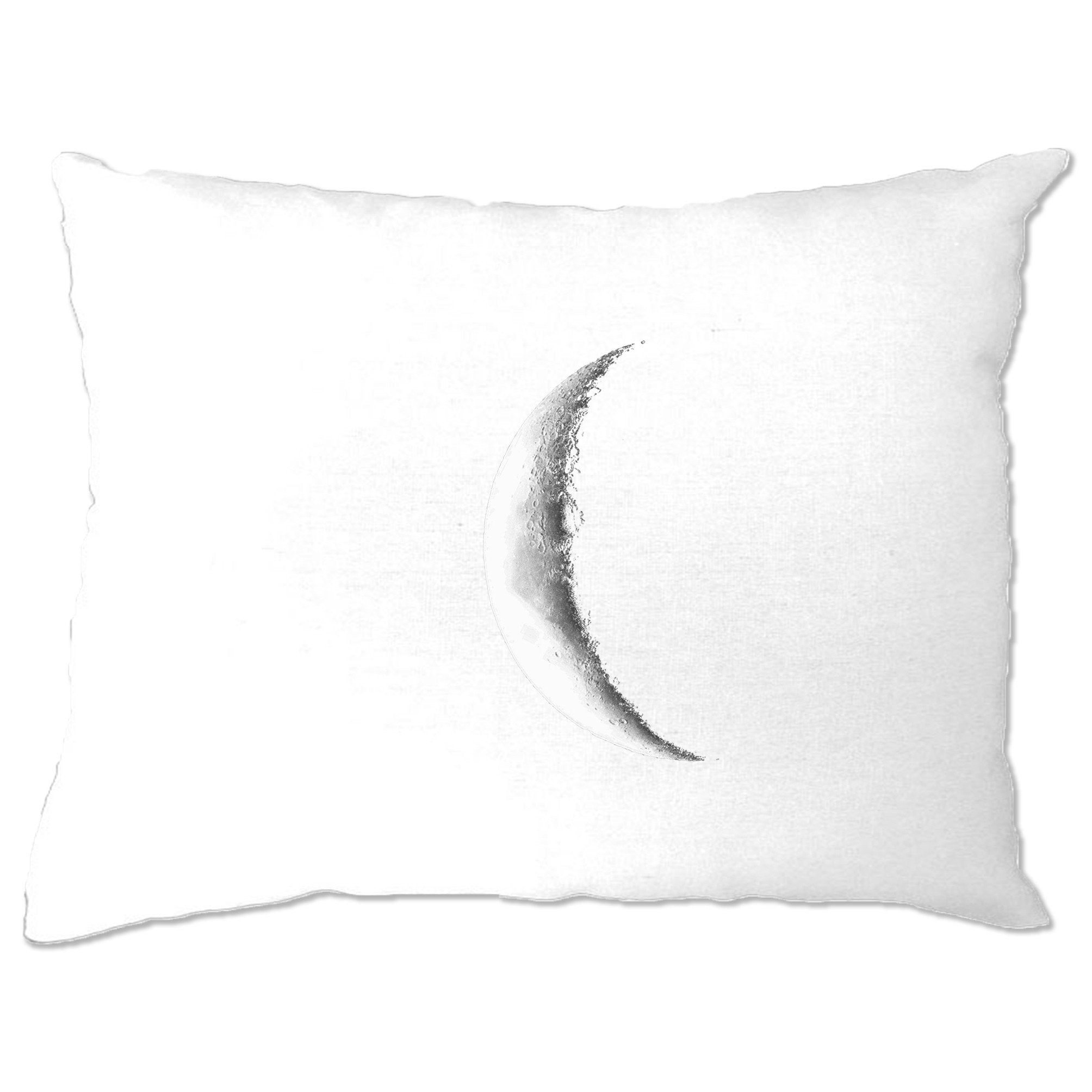 Space Pillow Case Crescent Half Moon Astronomy