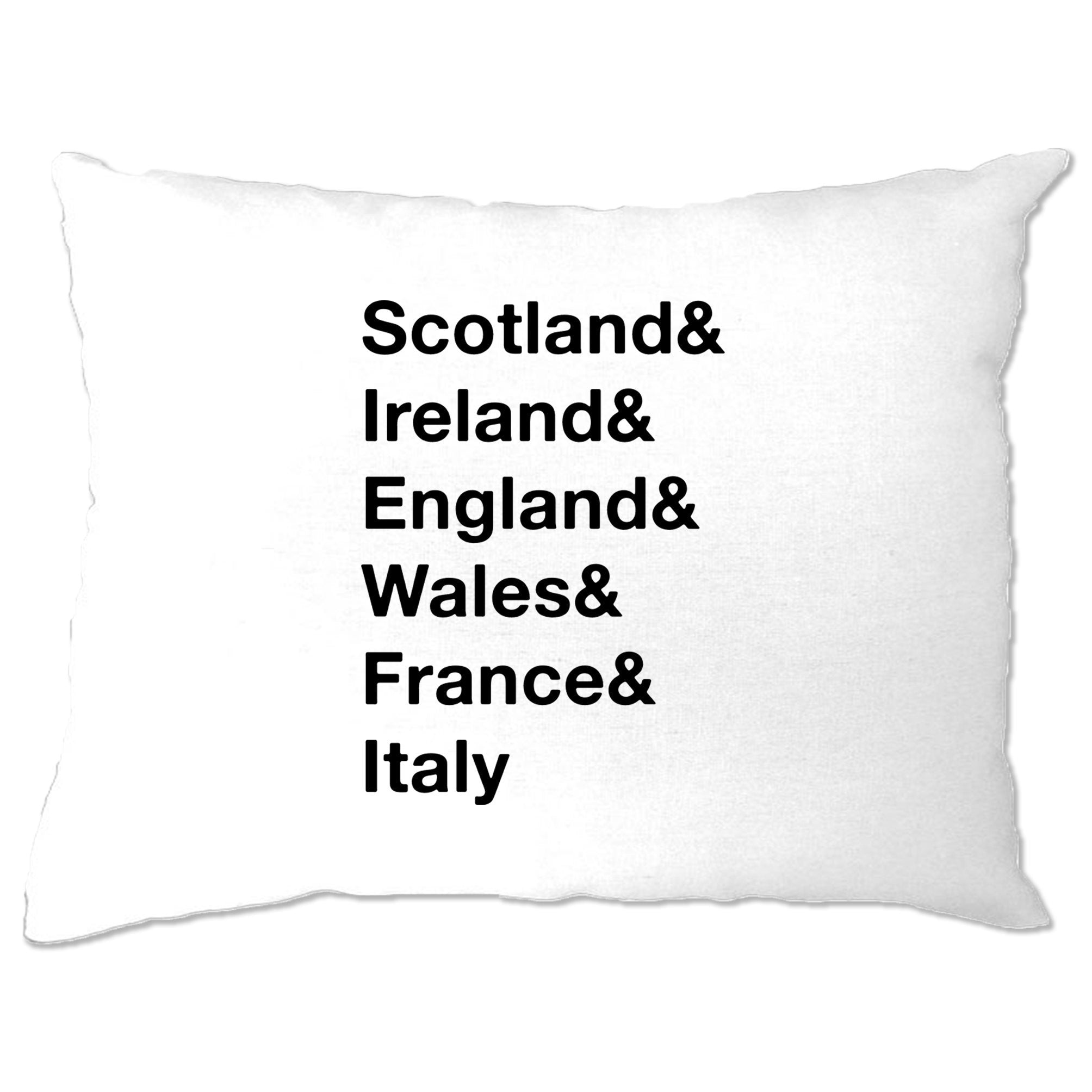 The Six Nations Pillow Case Scotland, Ireland, England