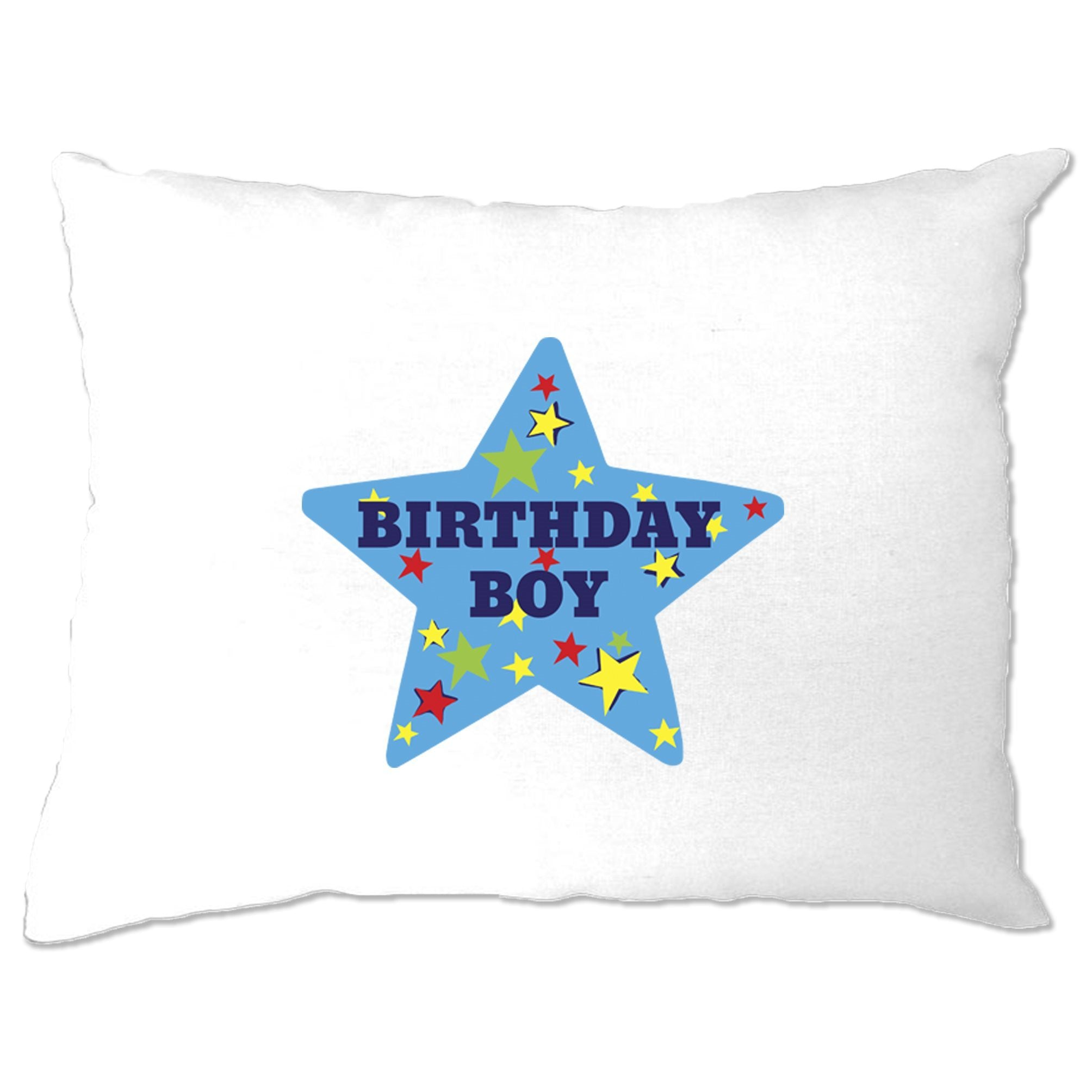 Novelty Party Pillow Case Birthday Boy Pocket Print Badge