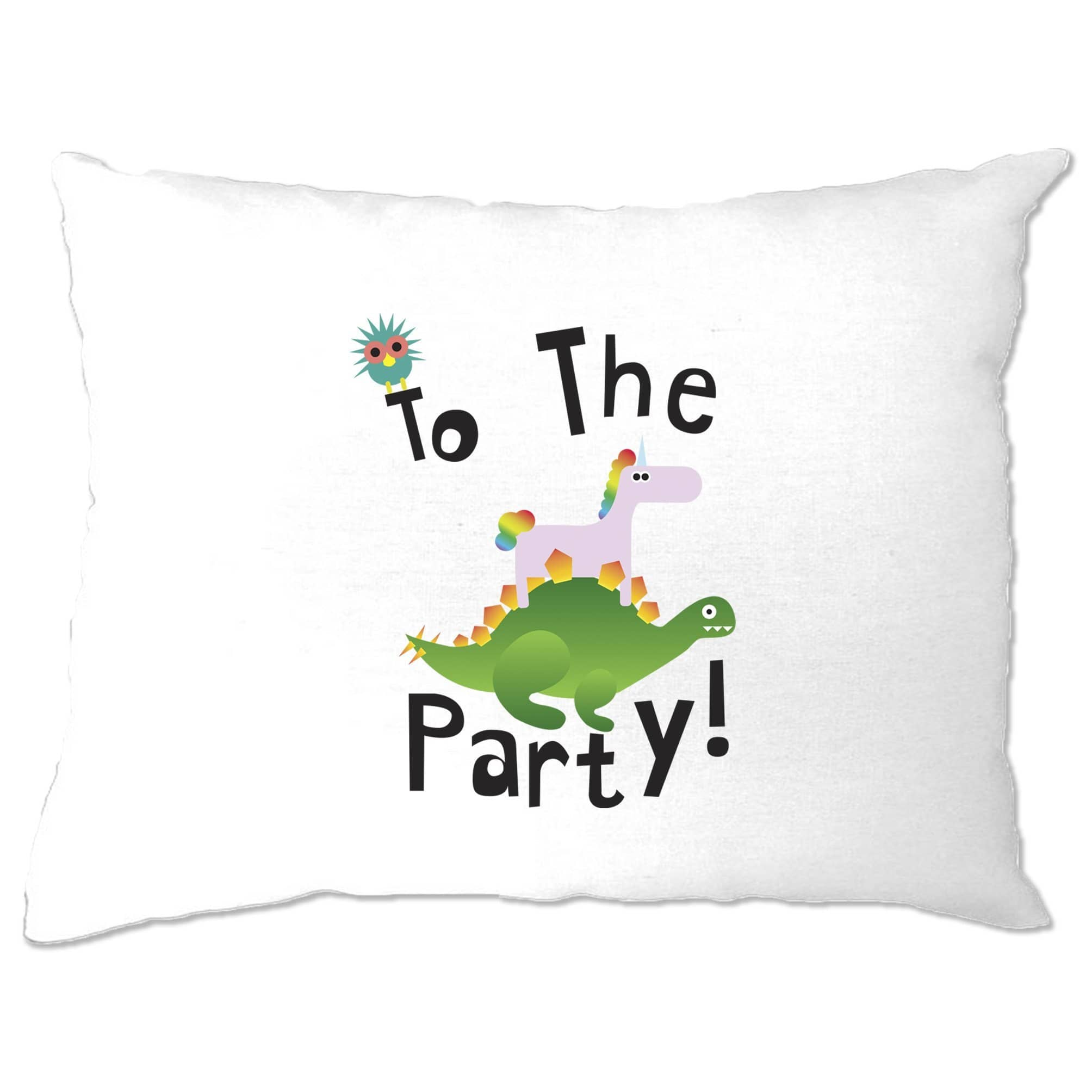 Novelty Birthday Pillow Case To The Party Stegosaurus