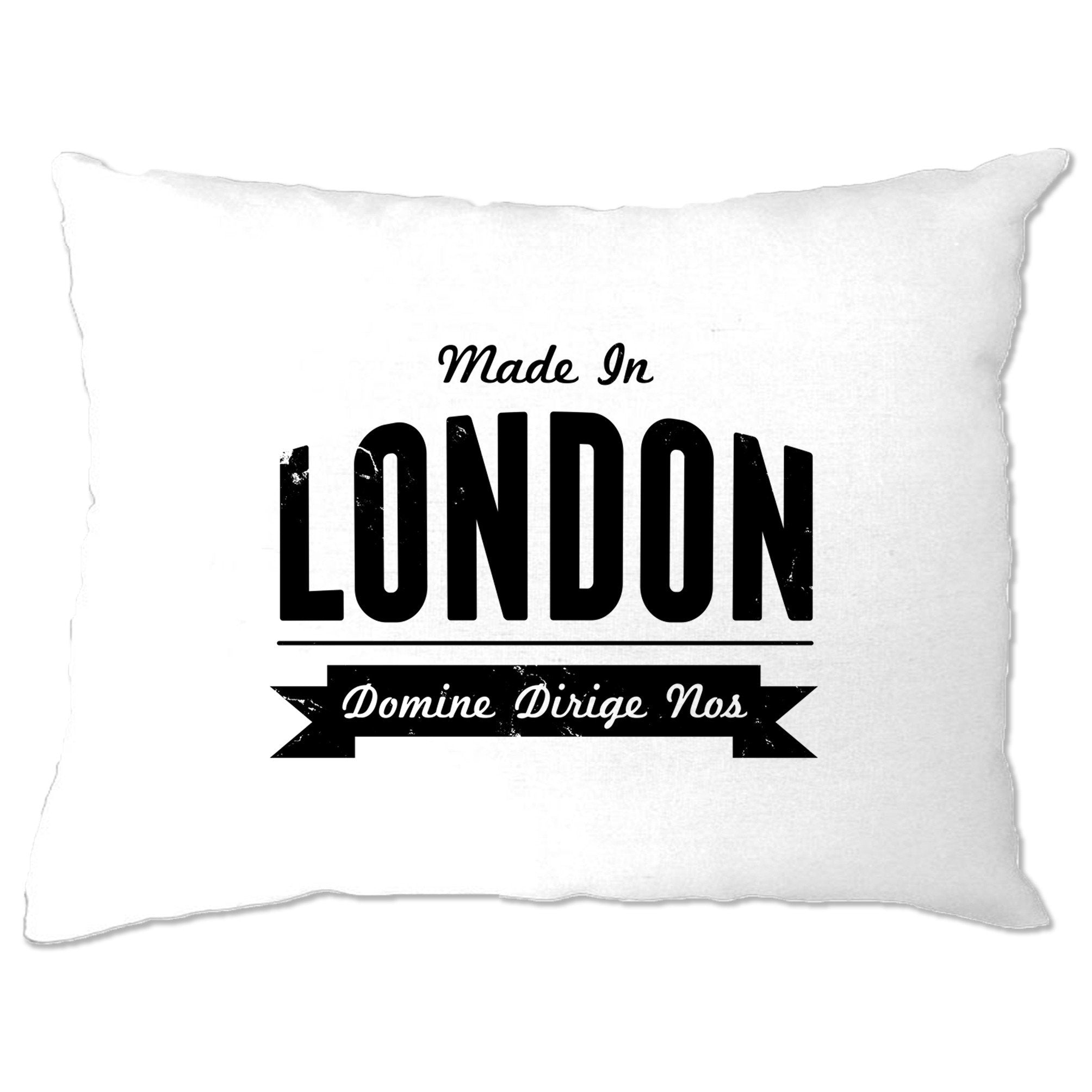 Hometown Pride Pillow Case Made in London Banner