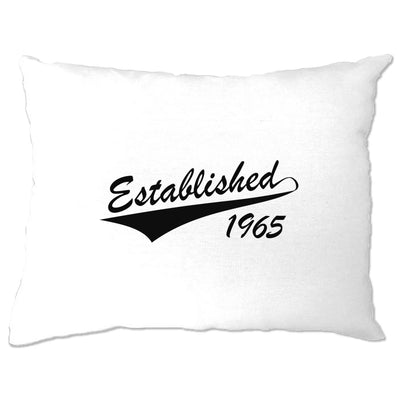 Birthday Pillow Case Established in 1965 Logo