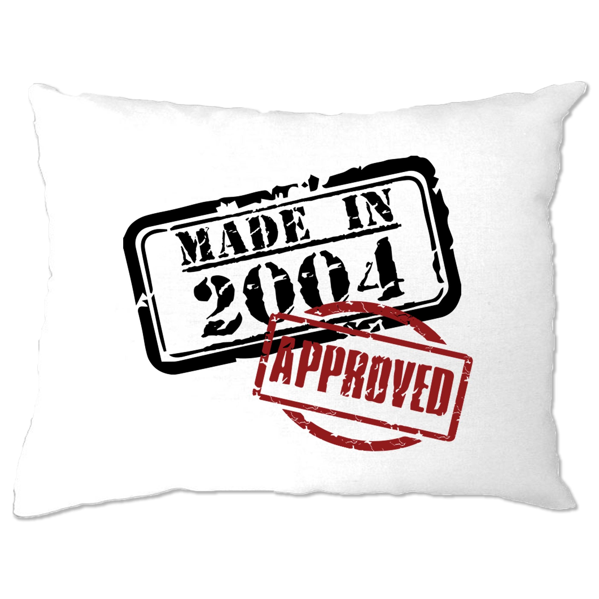 16th Birthday Pillow Case Distressed Made in 2004 Approved