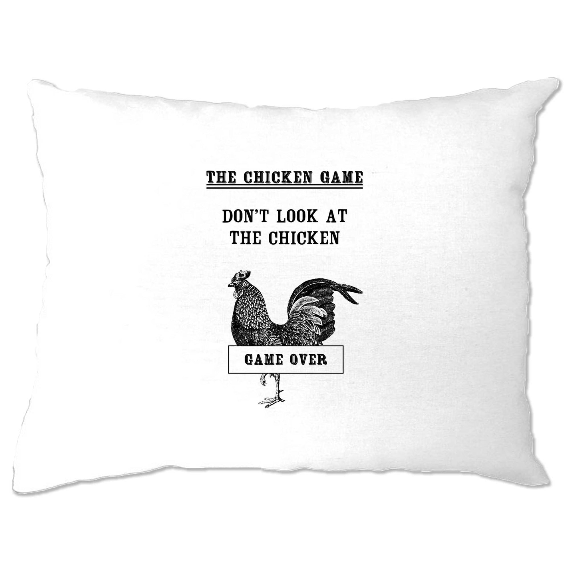 Novelty Pillow Case Don't Look At The Chicken Game Joke