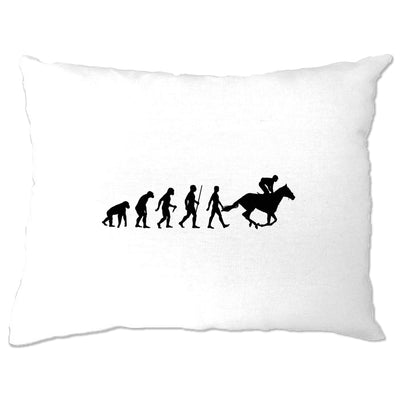 Sport Pillow Case Evolution Of Horse Riding Equestrian