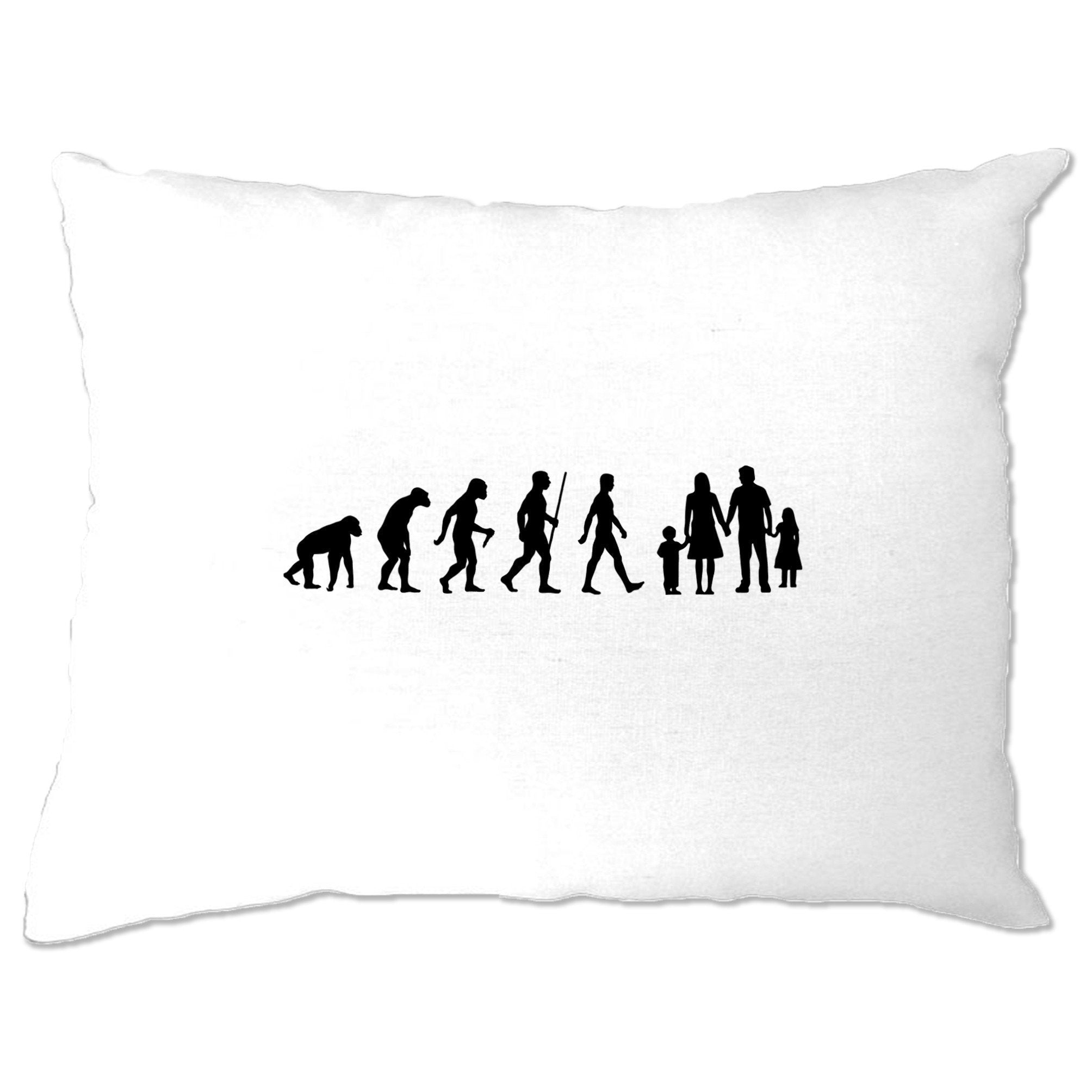 Parenthood Pillow Case Evolution Of A Family Girl And Boy