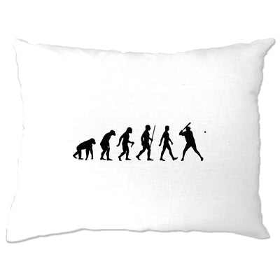 Sport Pillow Case Evolution Of Baseball Homerun Batter