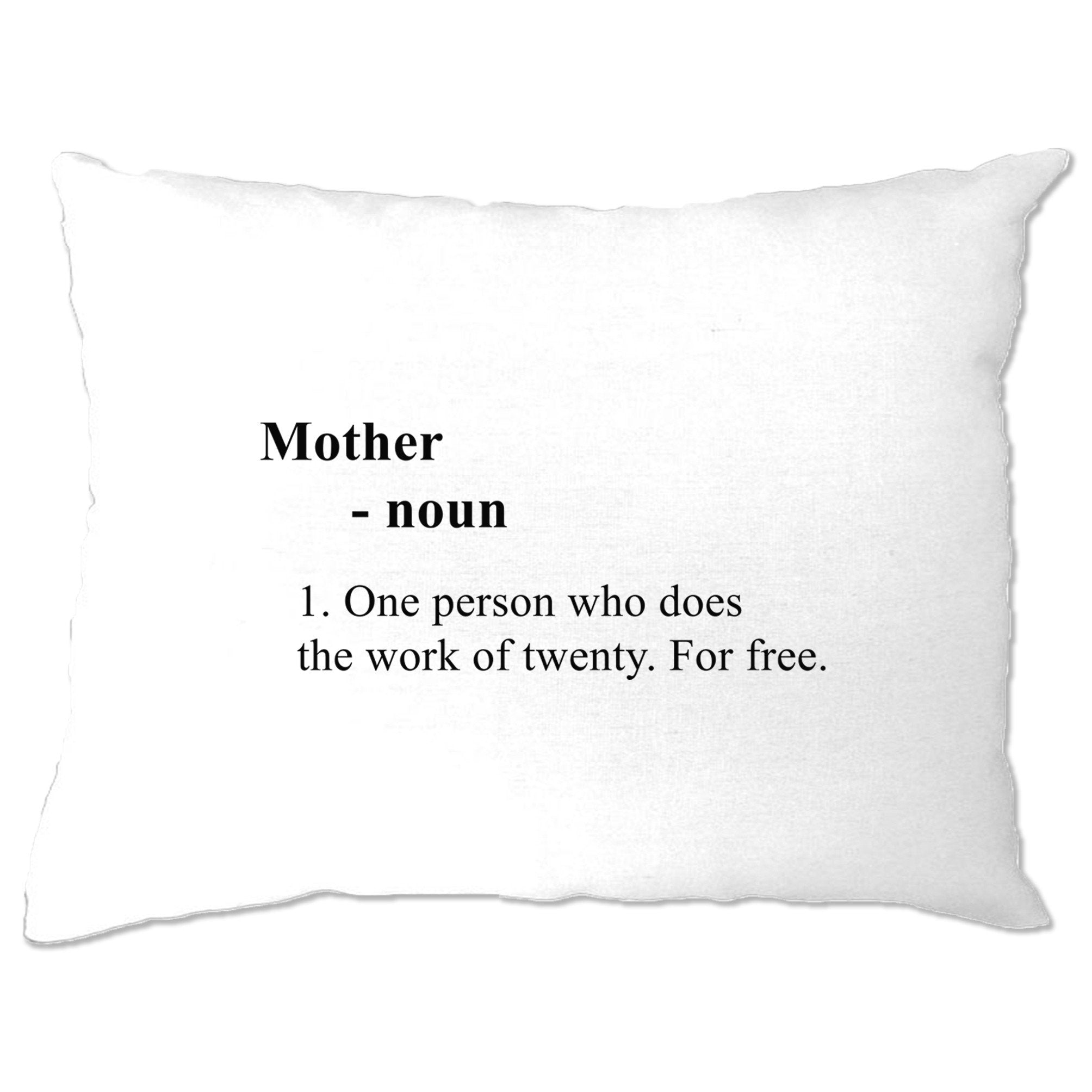 Mother's Day Pillow Case Novelty Dictionary Definition