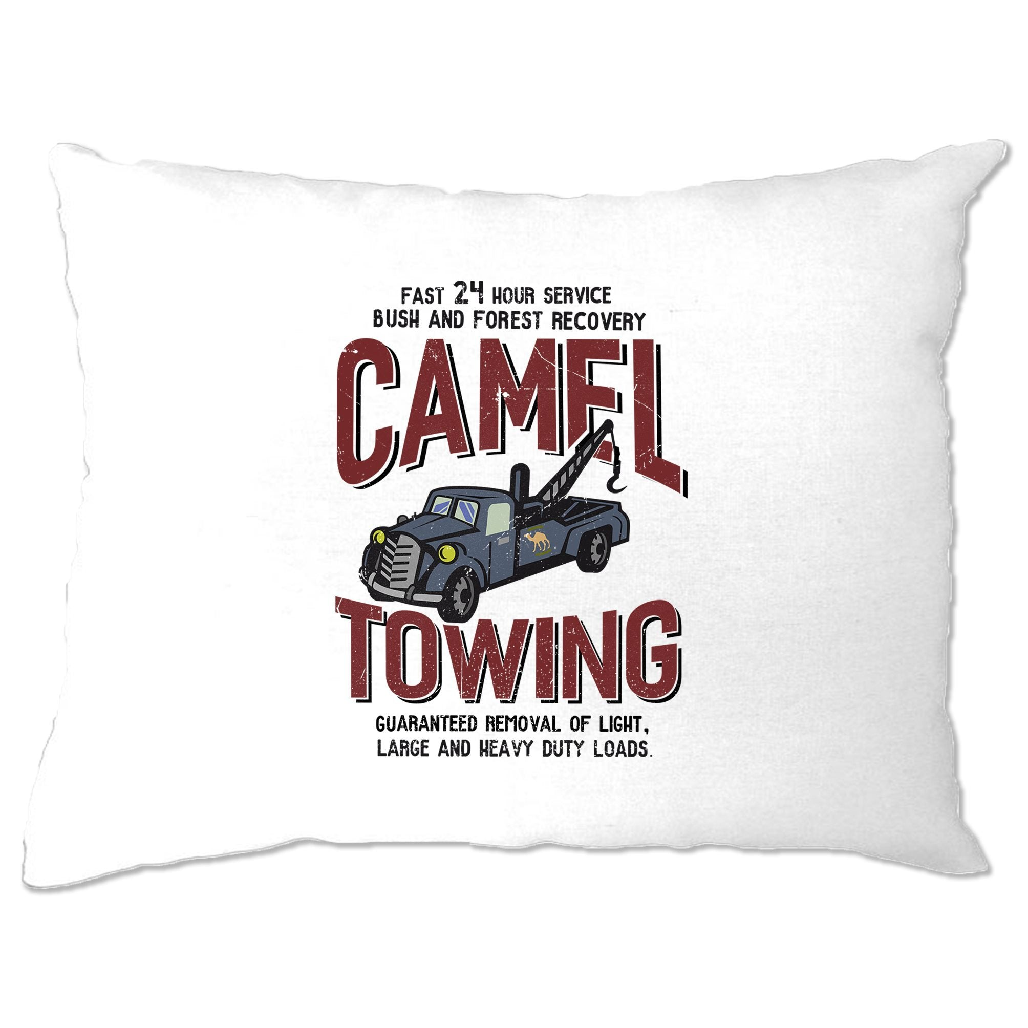 Novelty Mechanic Pillow Case Camel Towing Car Recovery