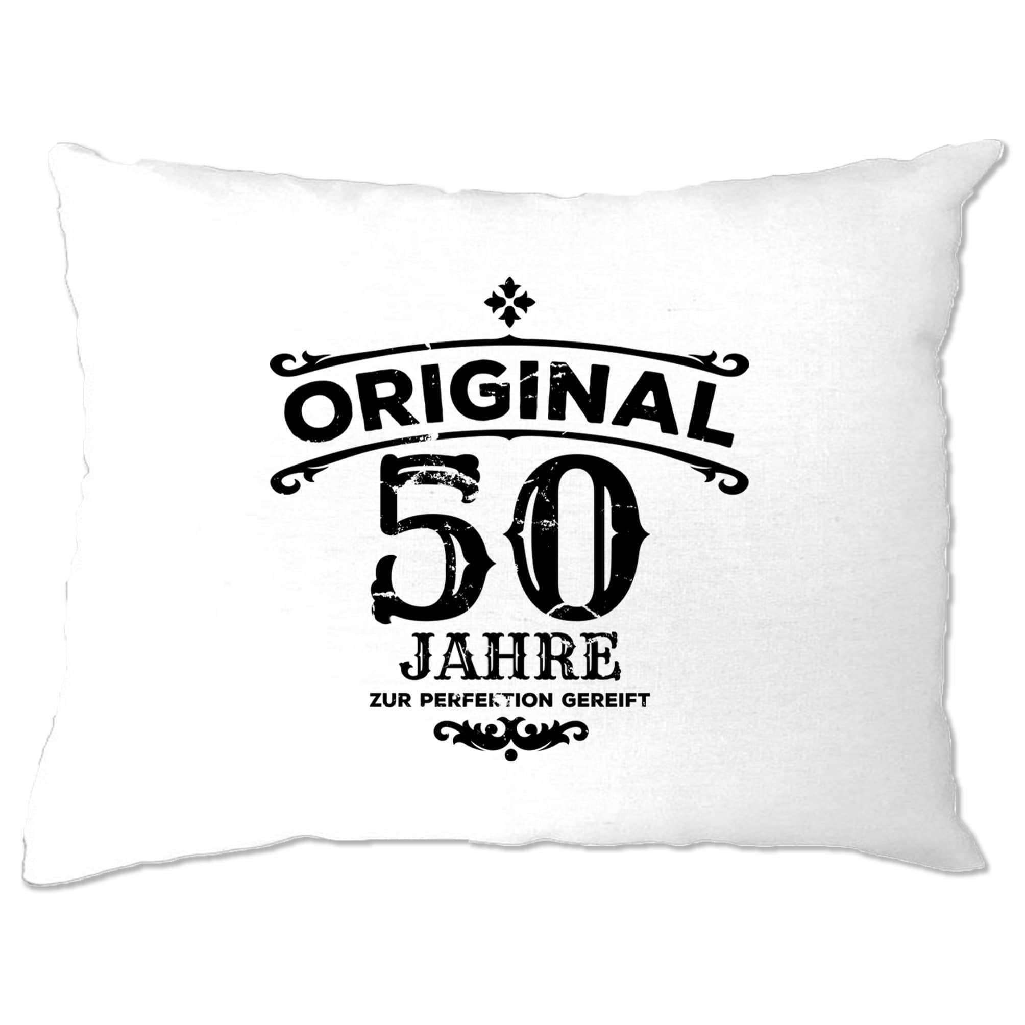 50th Birthday Pillow Case Original Aged 50 Fifty Years