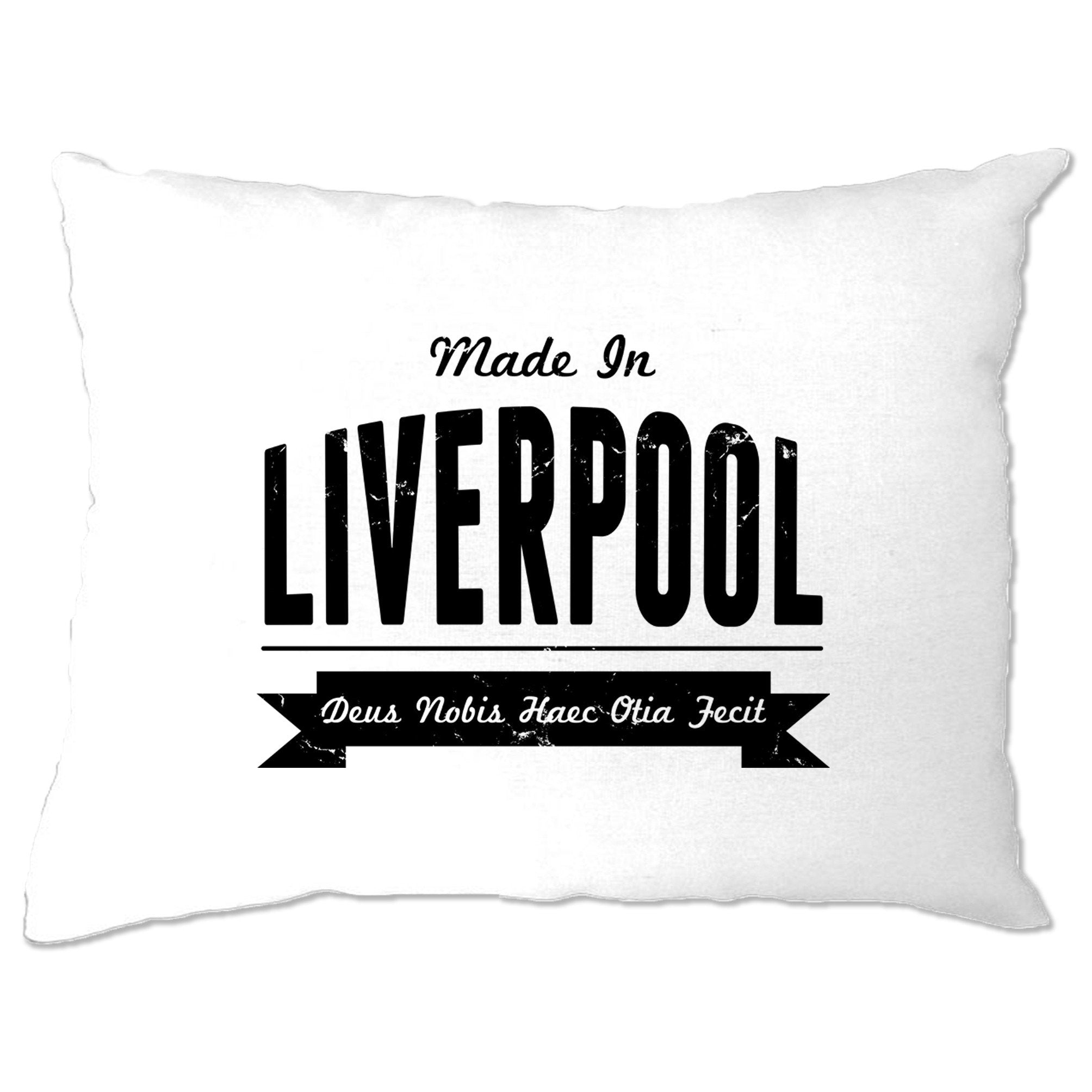 Hometown Pride Pillow Case Made in Liverpool Banner