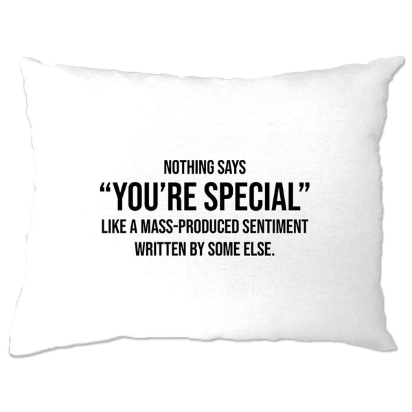 Valentines Day Pillow Case You're Special Text