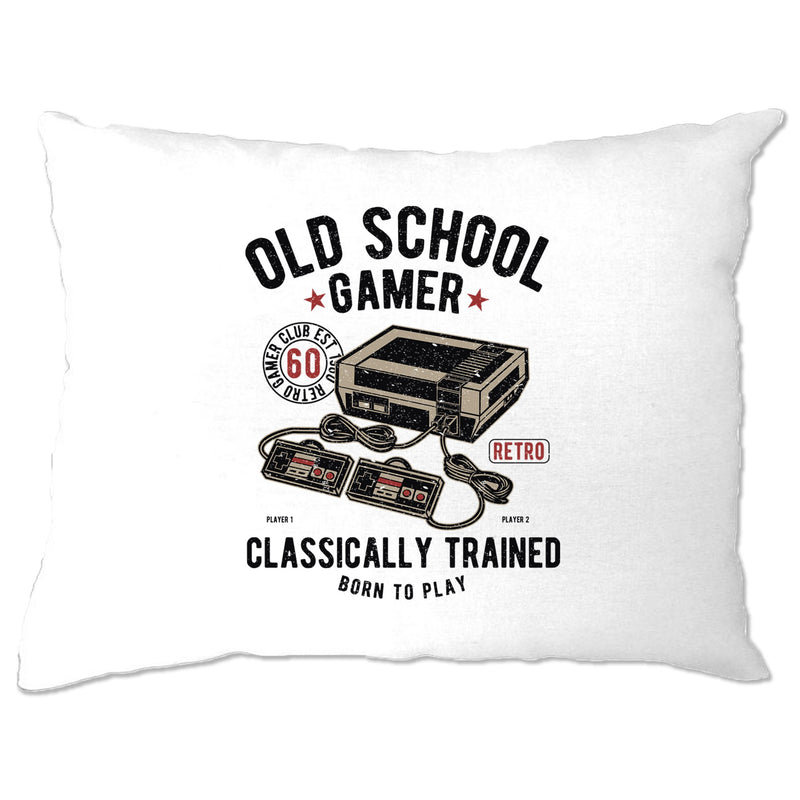Gaming Pillow Case Old School Gamer Retro Videogame Arcade