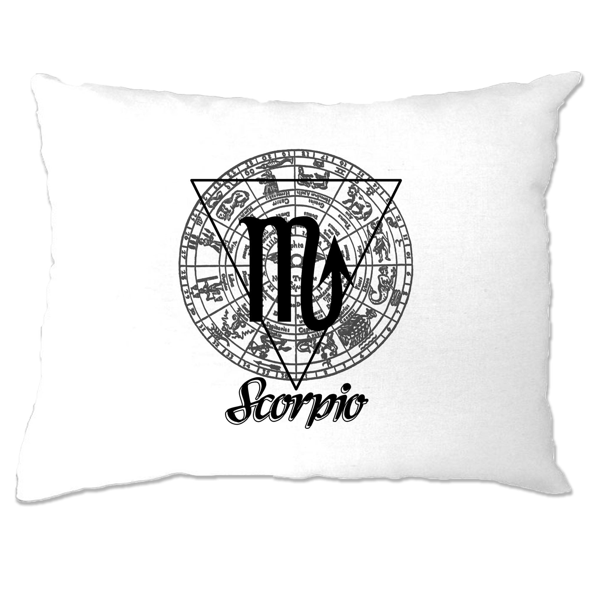 Horoscope Pillow Case Scorpio Zodiac Star Sign Birthday