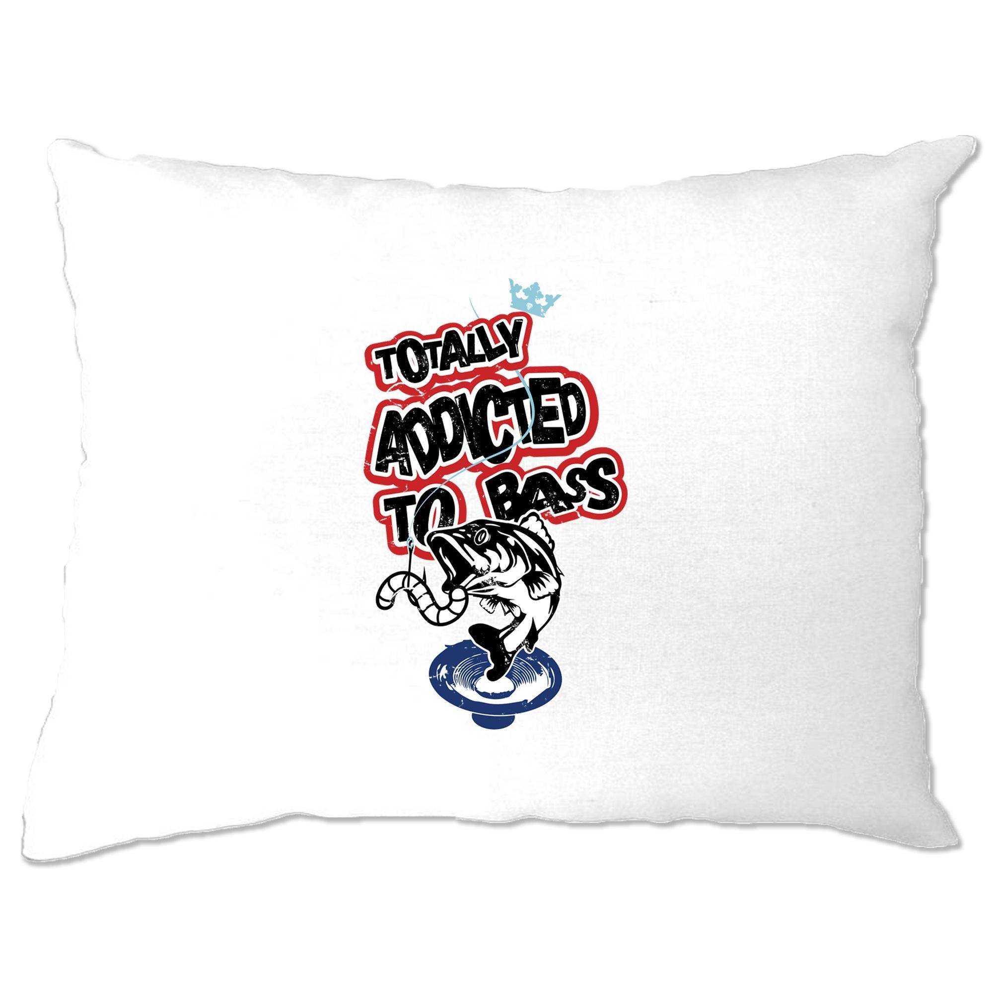 Novelty Music Pillow Case Totally Addicted To Bass Fish